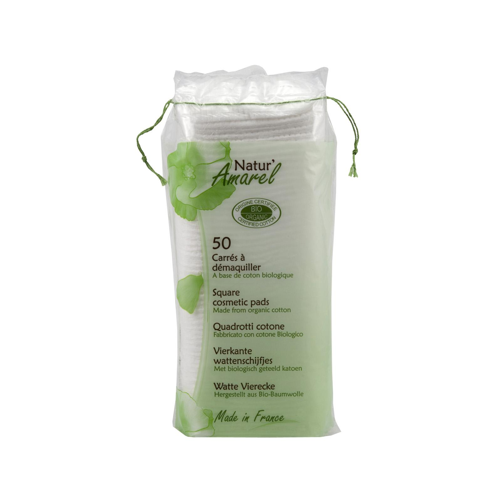 Natur Amarel Odličovací tampony, square cotton pads 50 ks