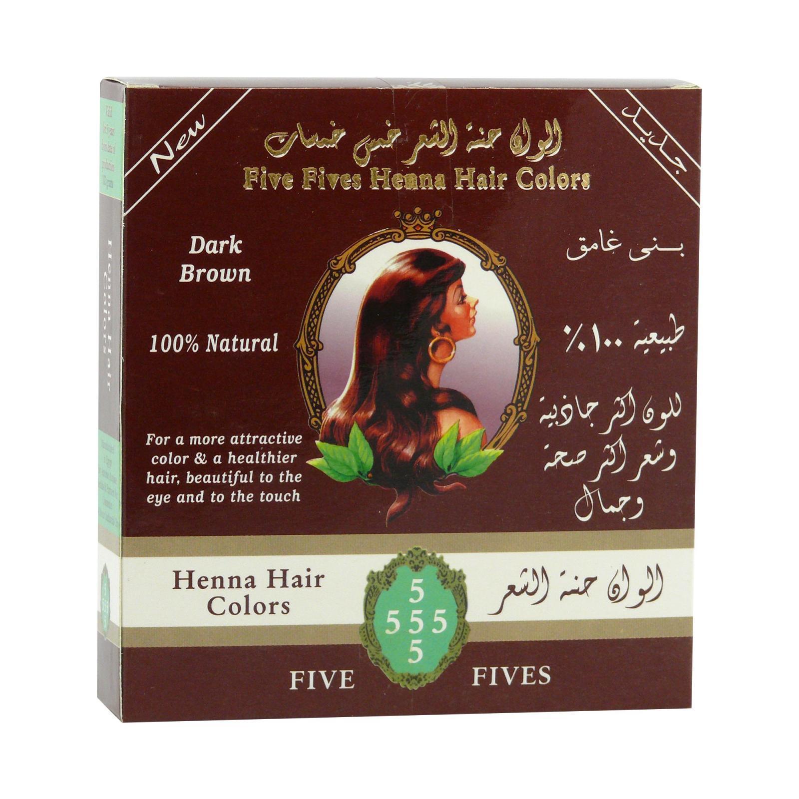 Five Fives Henna Lamda tmavě hnědá 100 g