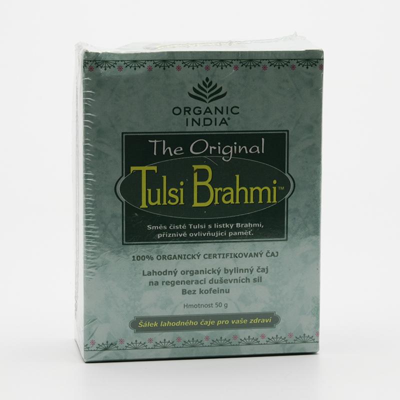Organic India Čaj Tulsi Brahmi, sypaný 50 g