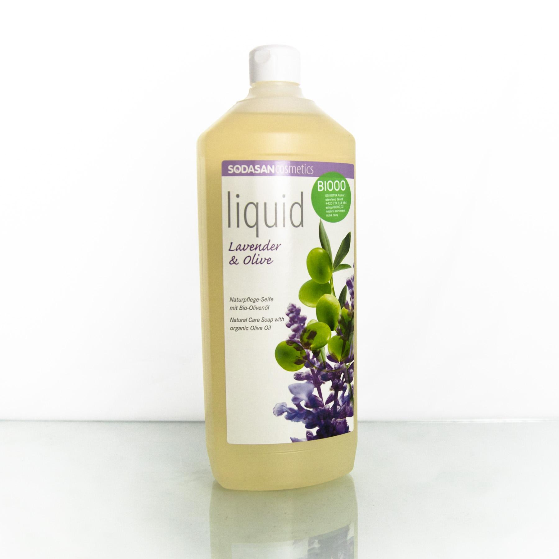 Sodasan Tekuté mýdlo levandule a oliva, náplň 1 l