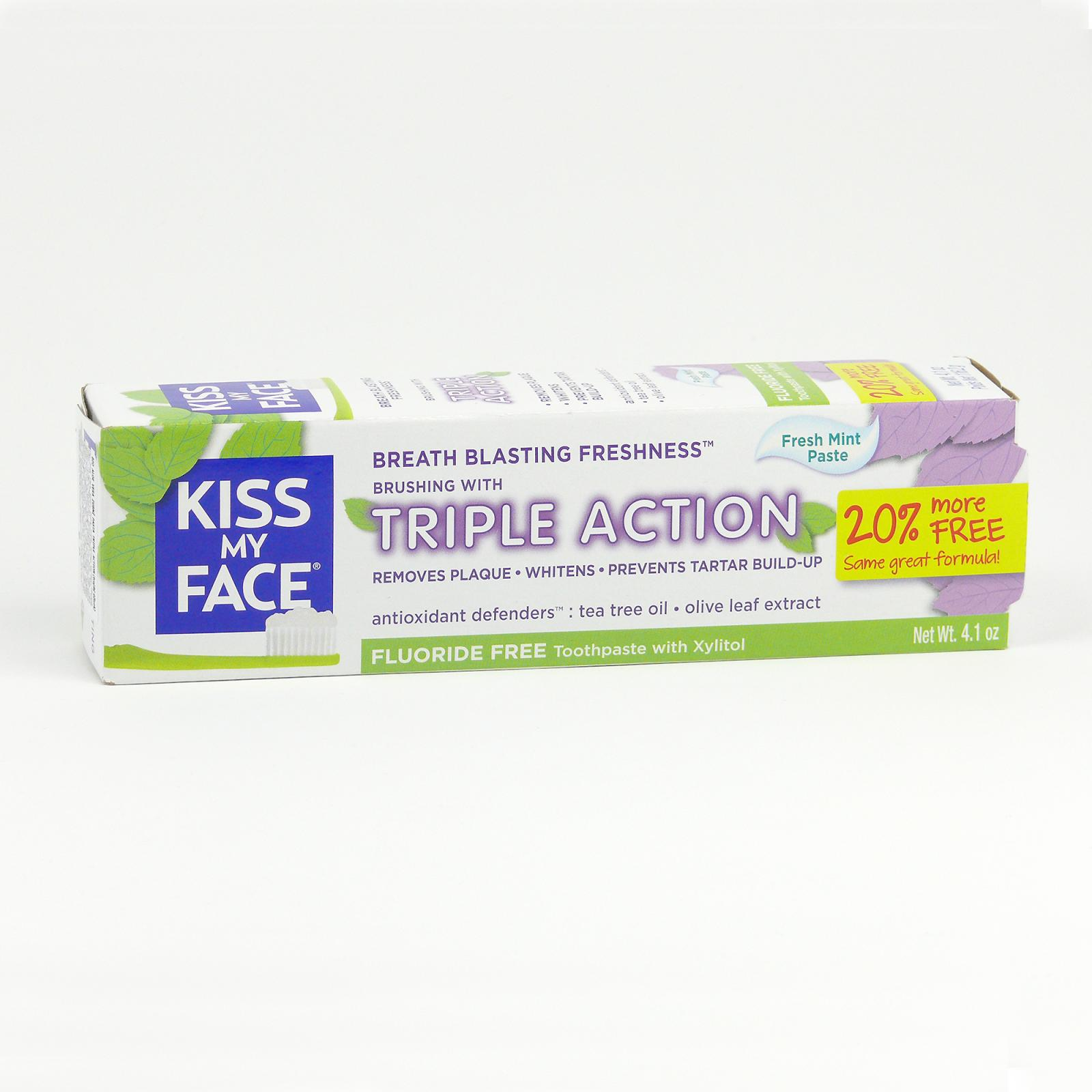 Kiss My Face Corp. Zubní pasta Triple Action, bez fluoridu 116 g