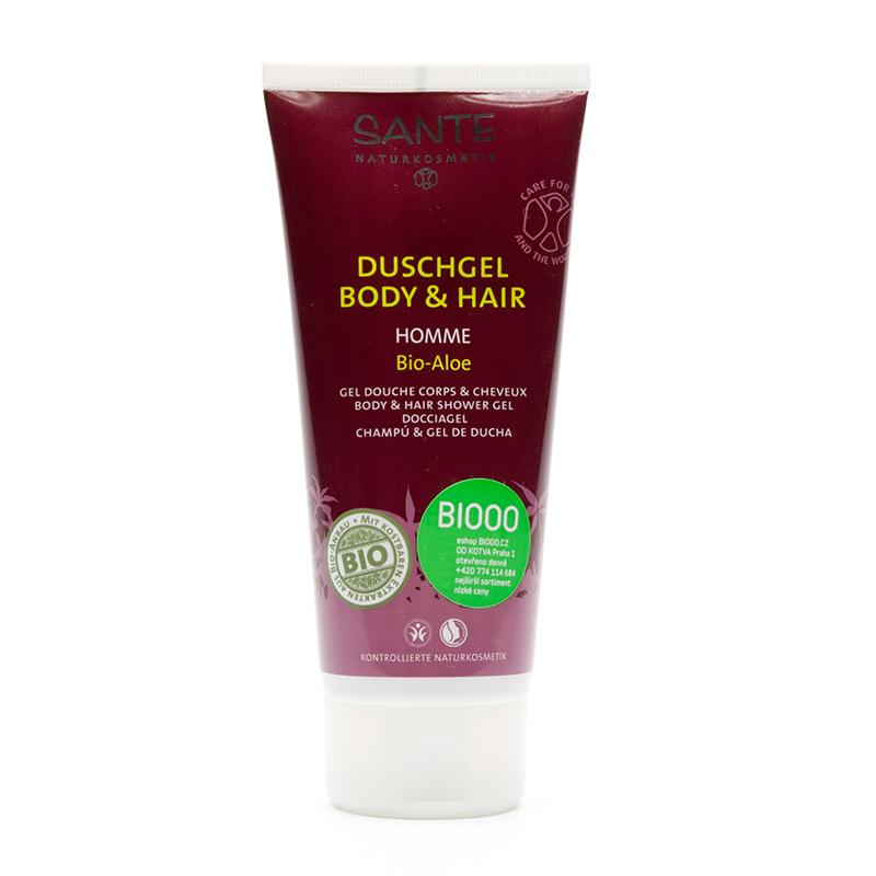 Santé Šampon a sprchový gel bio, Homme Aloe 200 ml