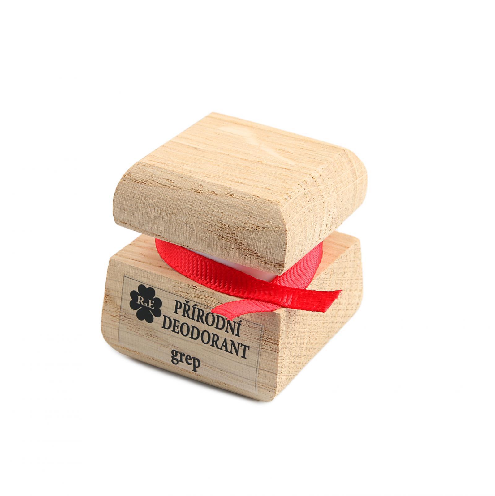 RaE Přírodní krémový deodorant s vůní grepu 15 ml dřevěný obal