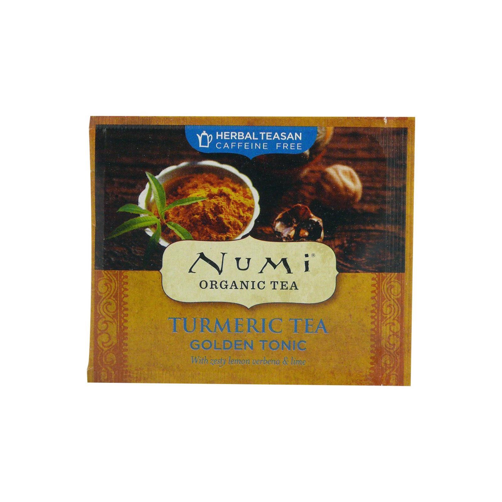 Numi Organic Tea Kořeněný čaj Golden Tonic, Turmeric Tea 3,1 g, 1 ks