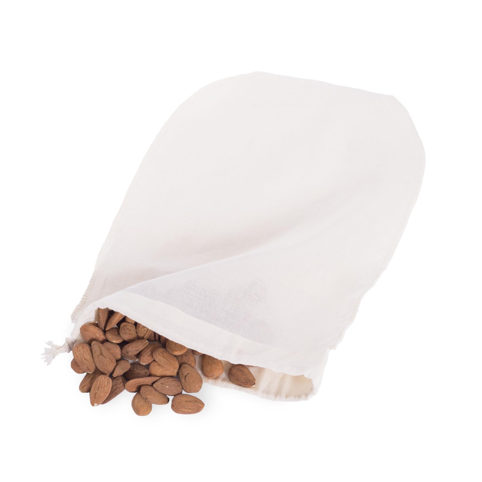 Casa Organica Sáček na výrobu rostlinného mléka z bio bavlny 1 ks, (30x20 cm)