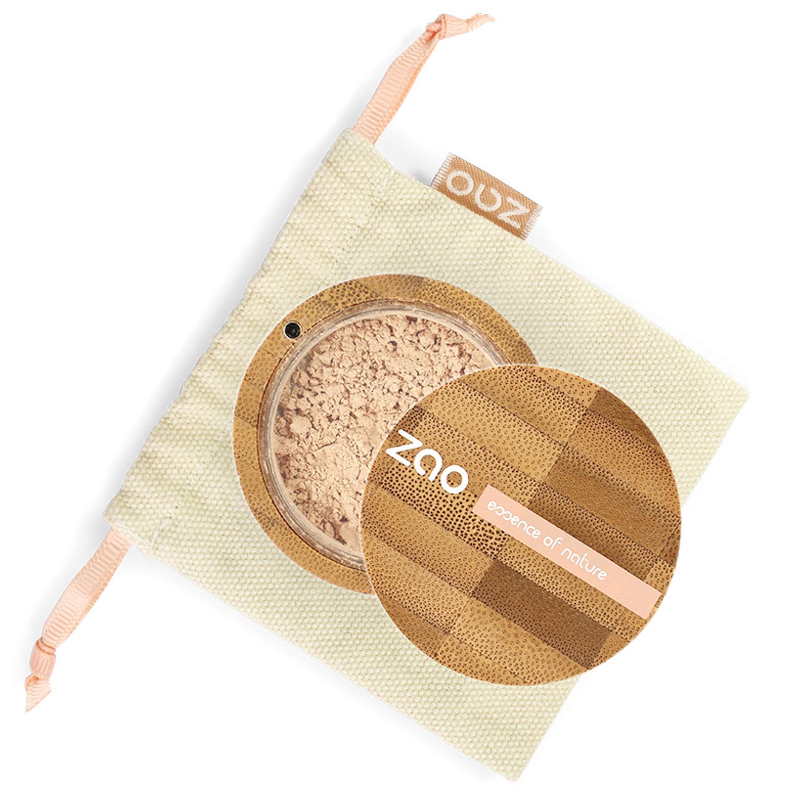 ZAO Hedvábný minerální make-up 509 Sand beige 15 g bambusový obal