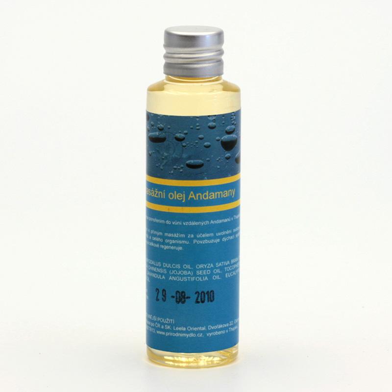 Přírodní mýdlo Masážní olej Andamany 50 ml