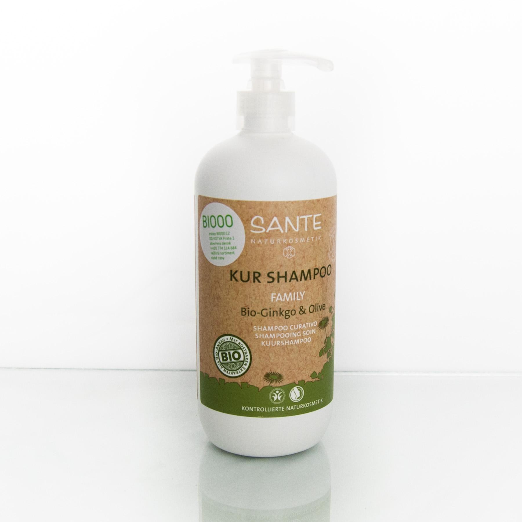 Santé Šampon ošetřující bio ginkgo a oliva, Family 500 ml