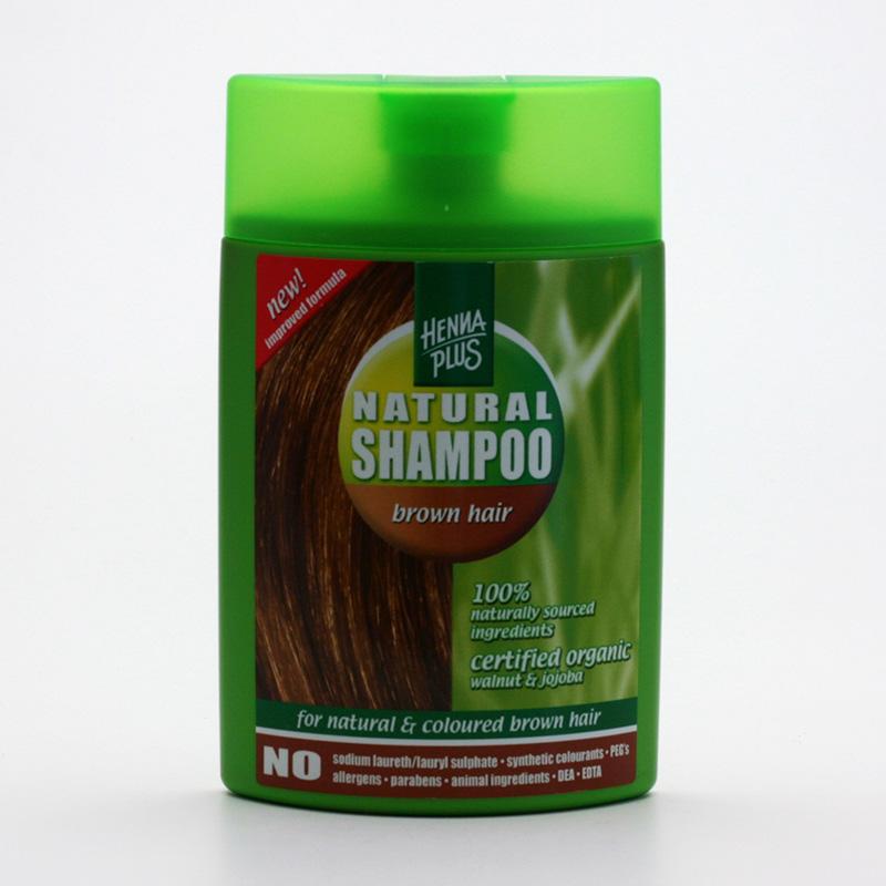 Henna Plus Šampon pro barvené vlasy, odstíny hnědé 200 ml