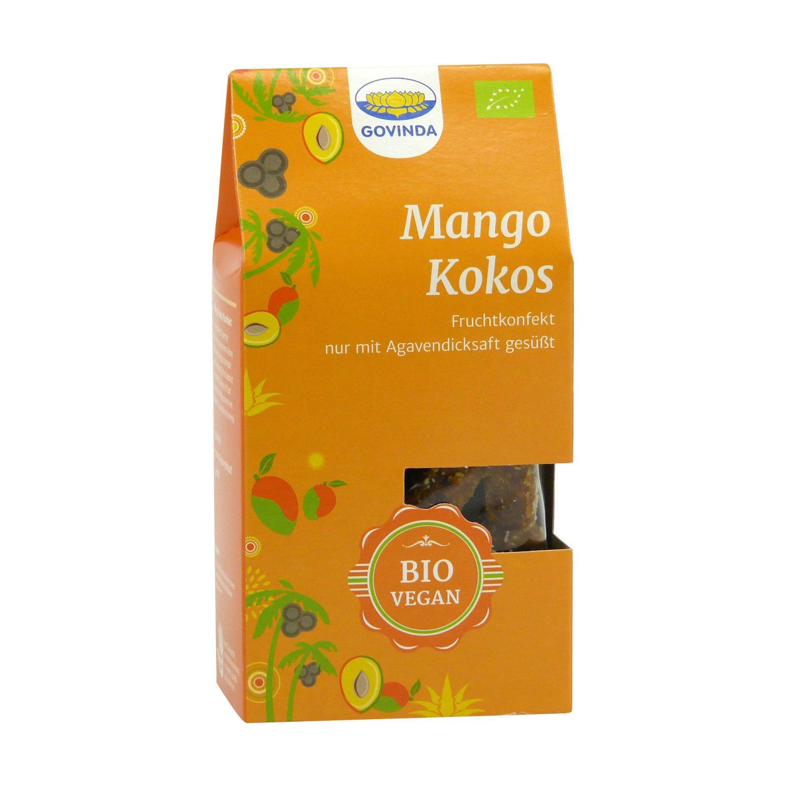 Govinda Ovocné cukroví Mango-Kokos 120 g