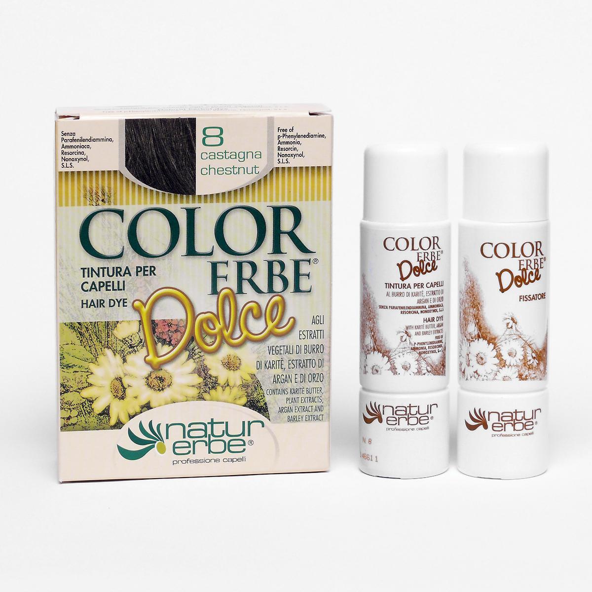 Color Erbe Barva na vlasy Kaštanová 08, Dolce 135 ml