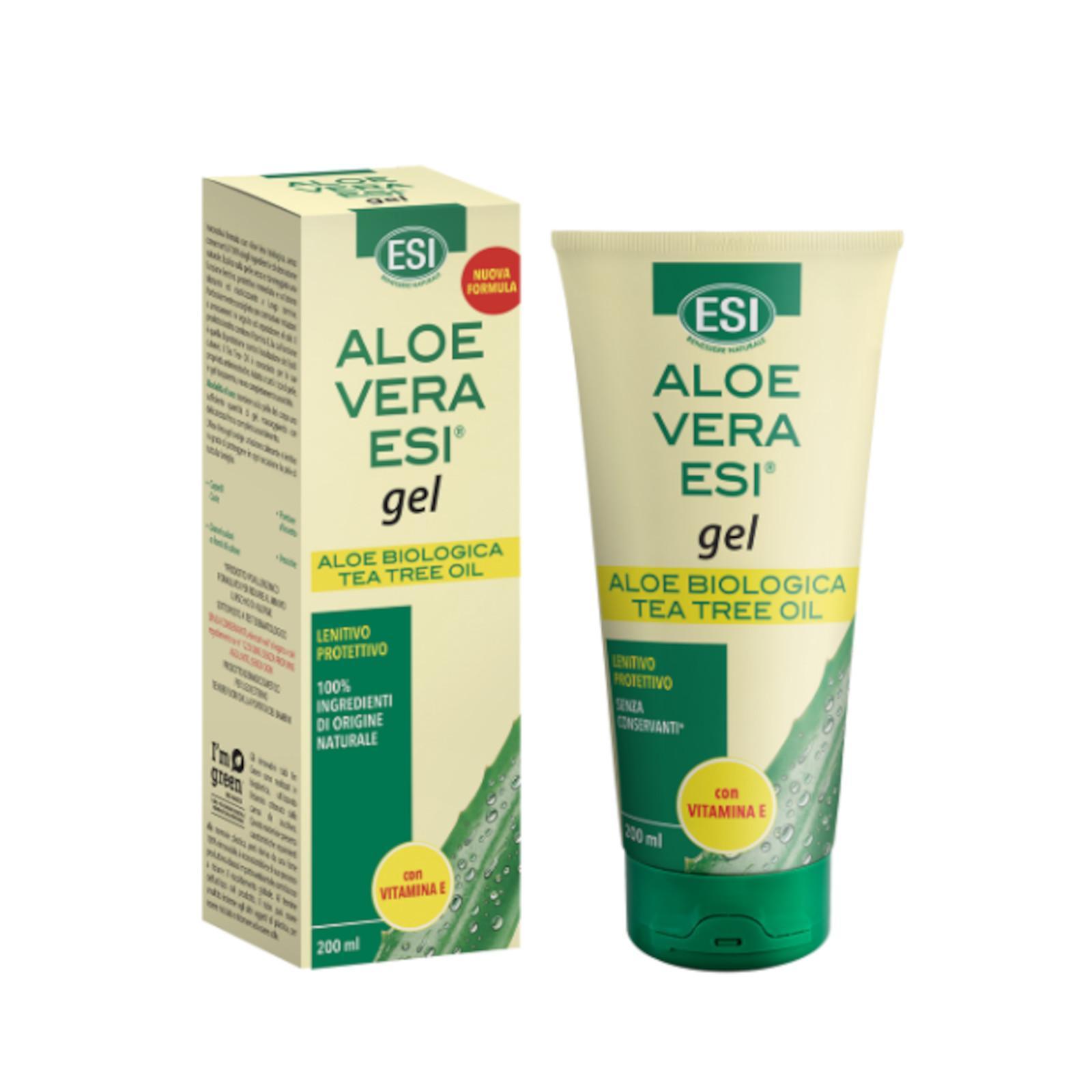 ESI Aloe vera gel s vitaminem E a teatree 200 ml