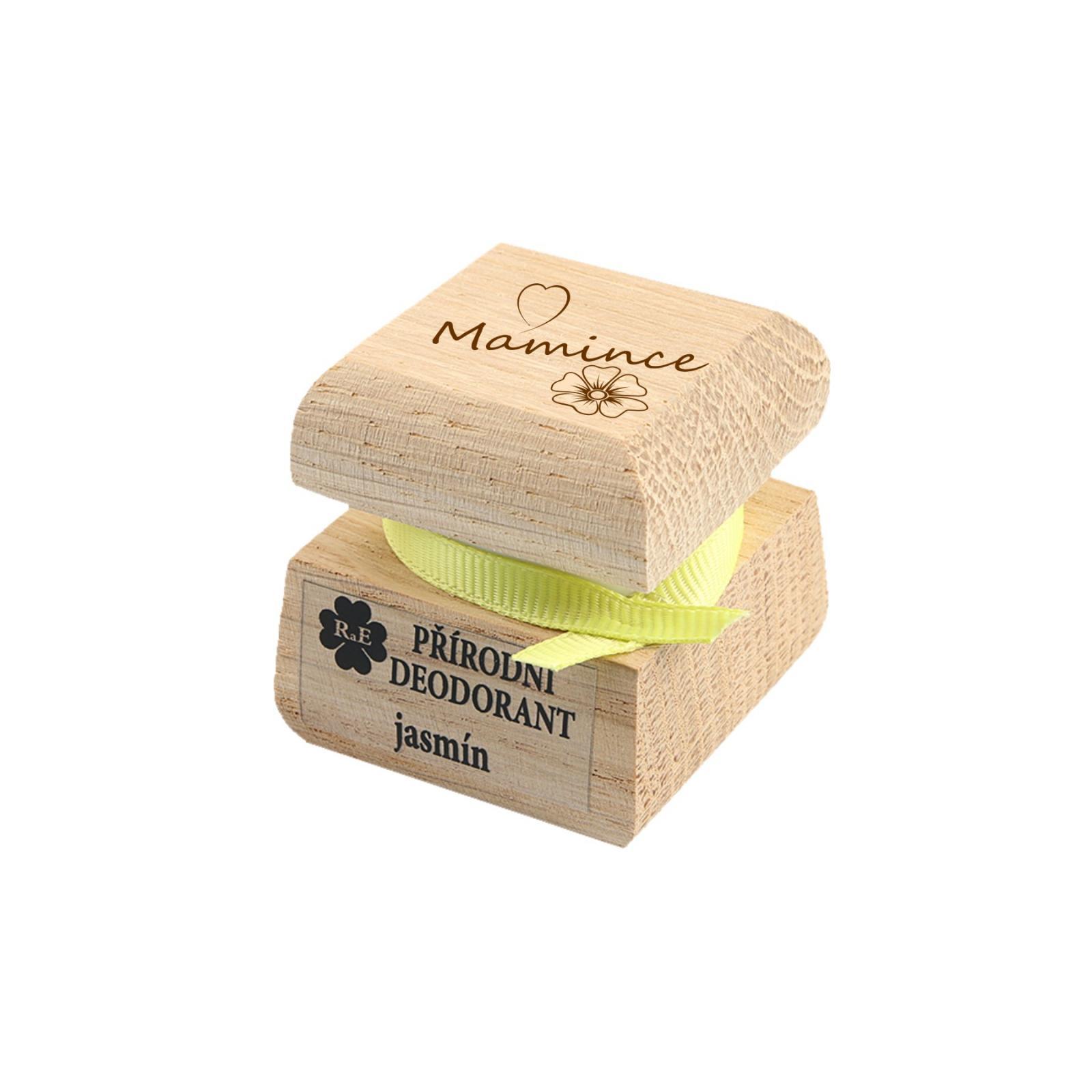 RaE Přírodní krémový deodorant s vůní jasmínu Mamince 15 ml dřevěný obal