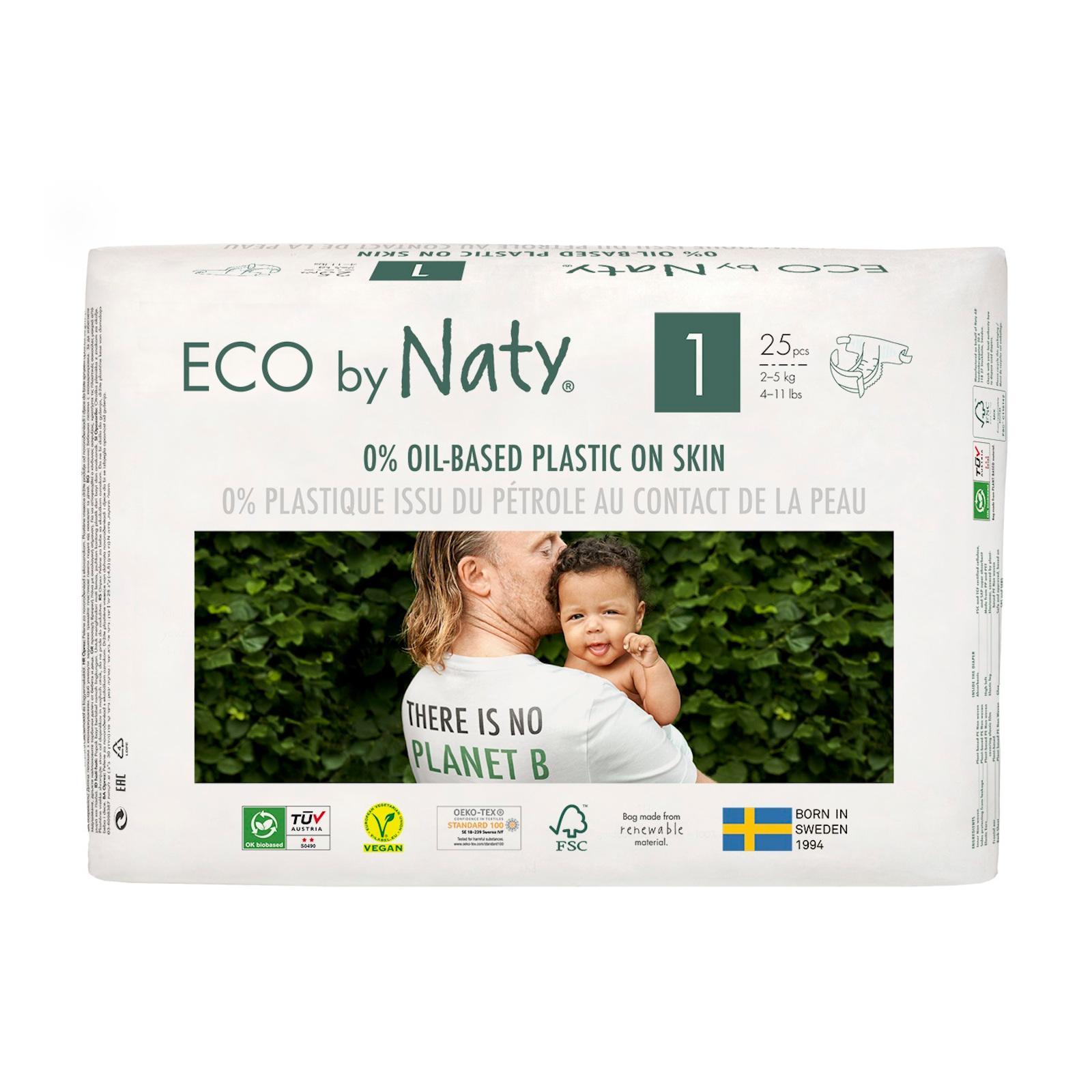 Eco by Naty Plenky Newborn 2-5 kg 25 ks