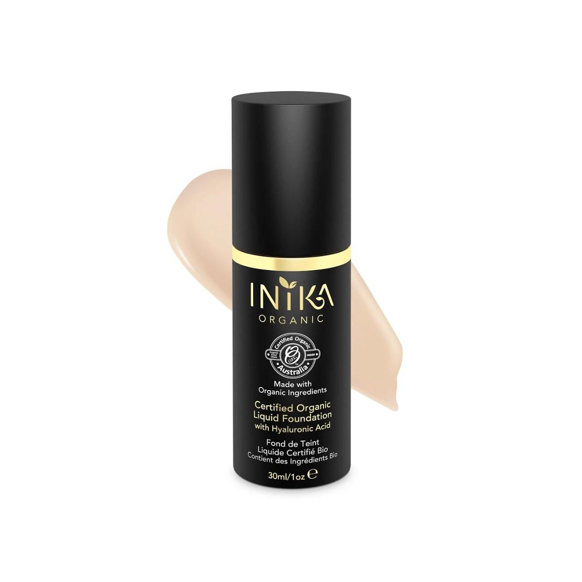 Inika Organic Tekutý make-up s kyselinou hyaluronovou, Porcelain 30 ml