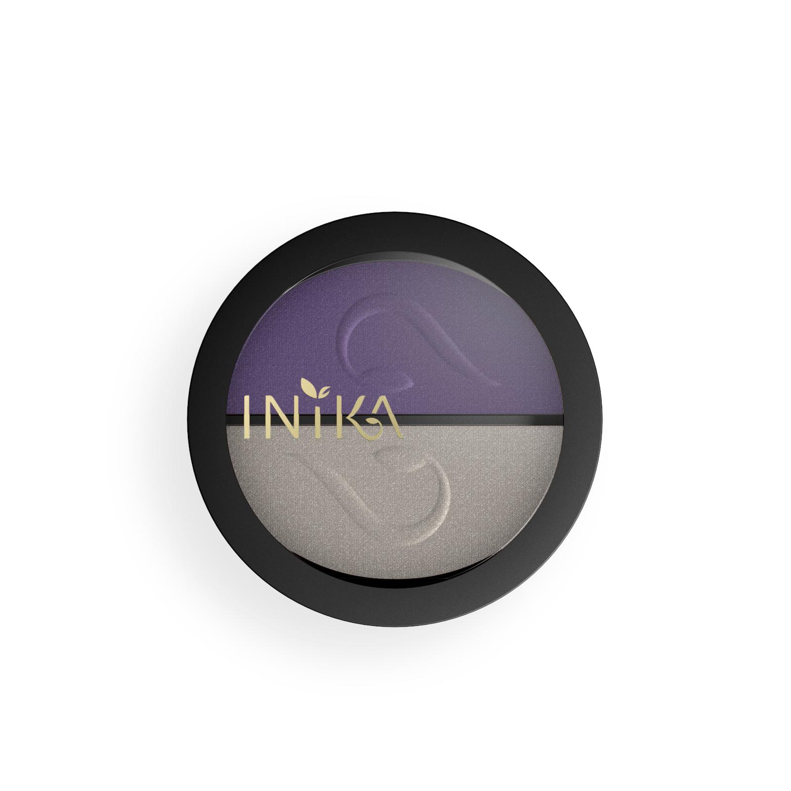 Inika Organic Kompaktní minerální duo očních stínů, Purple Platinum 3,9 g