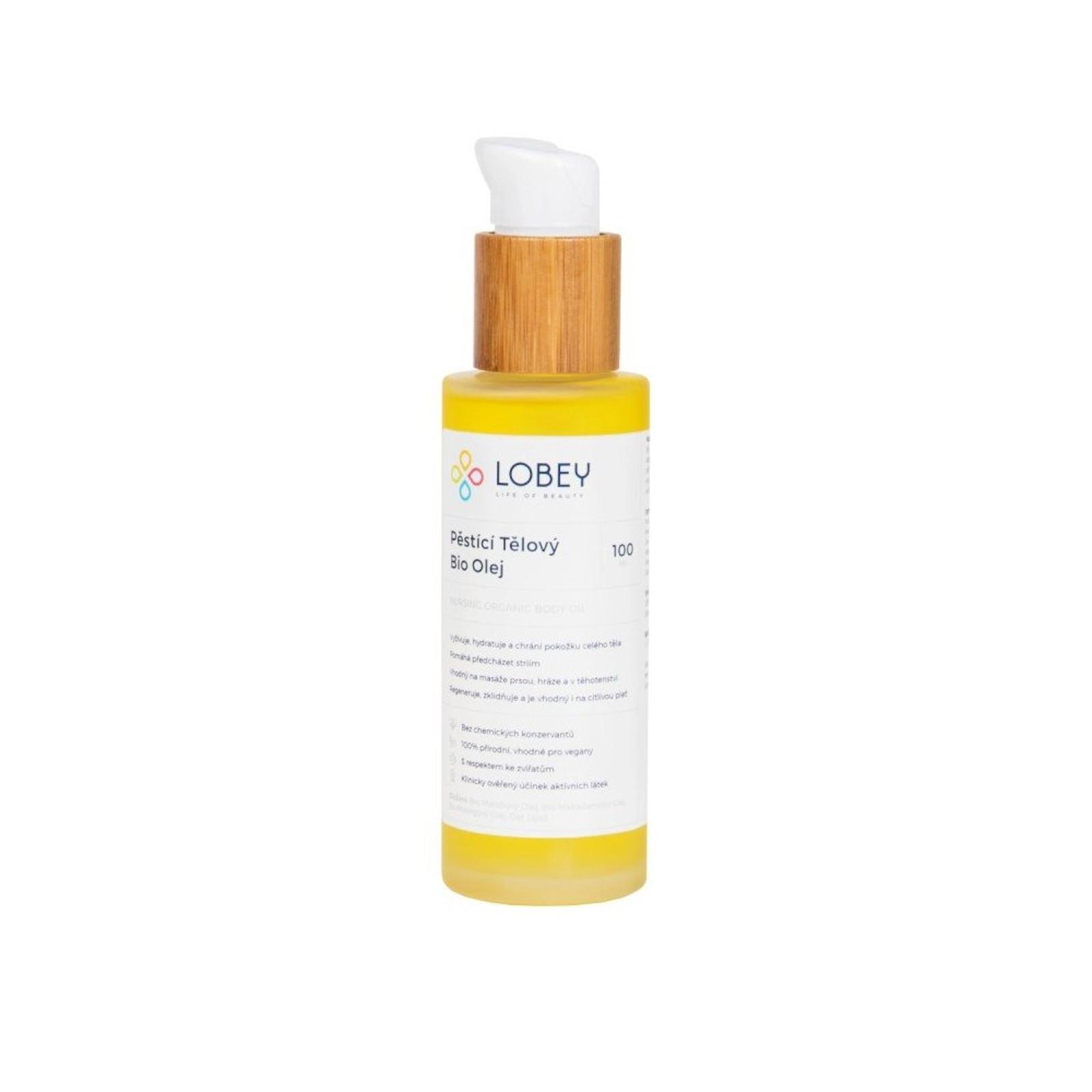 Lobey Pěstící tělový bio olej 100 ml
