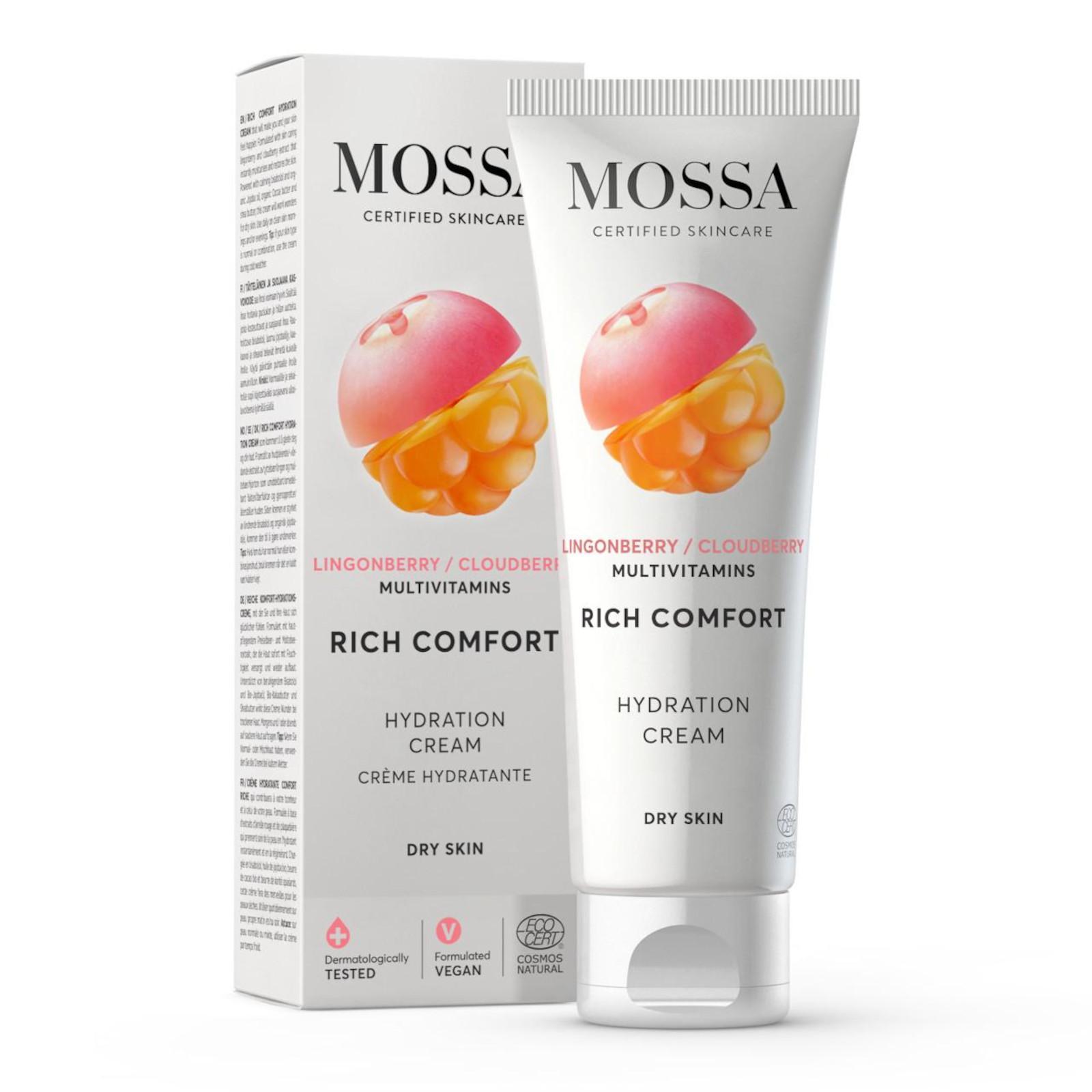 MOSSA Rich Comfort Hydration cream, hydratační krém 50 ml