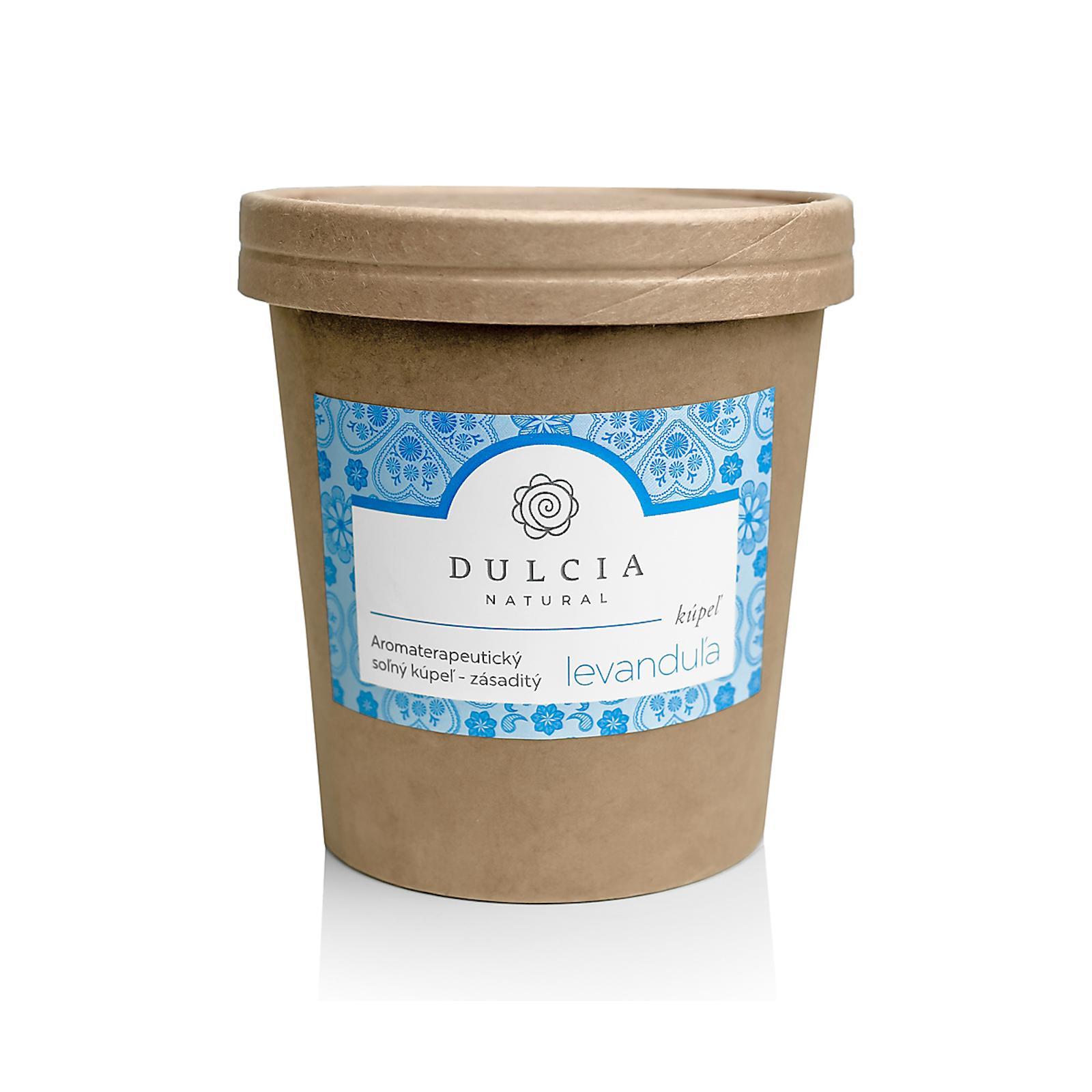 DULCIA natural Aromaterapeutická solná koupel levandule 550 g