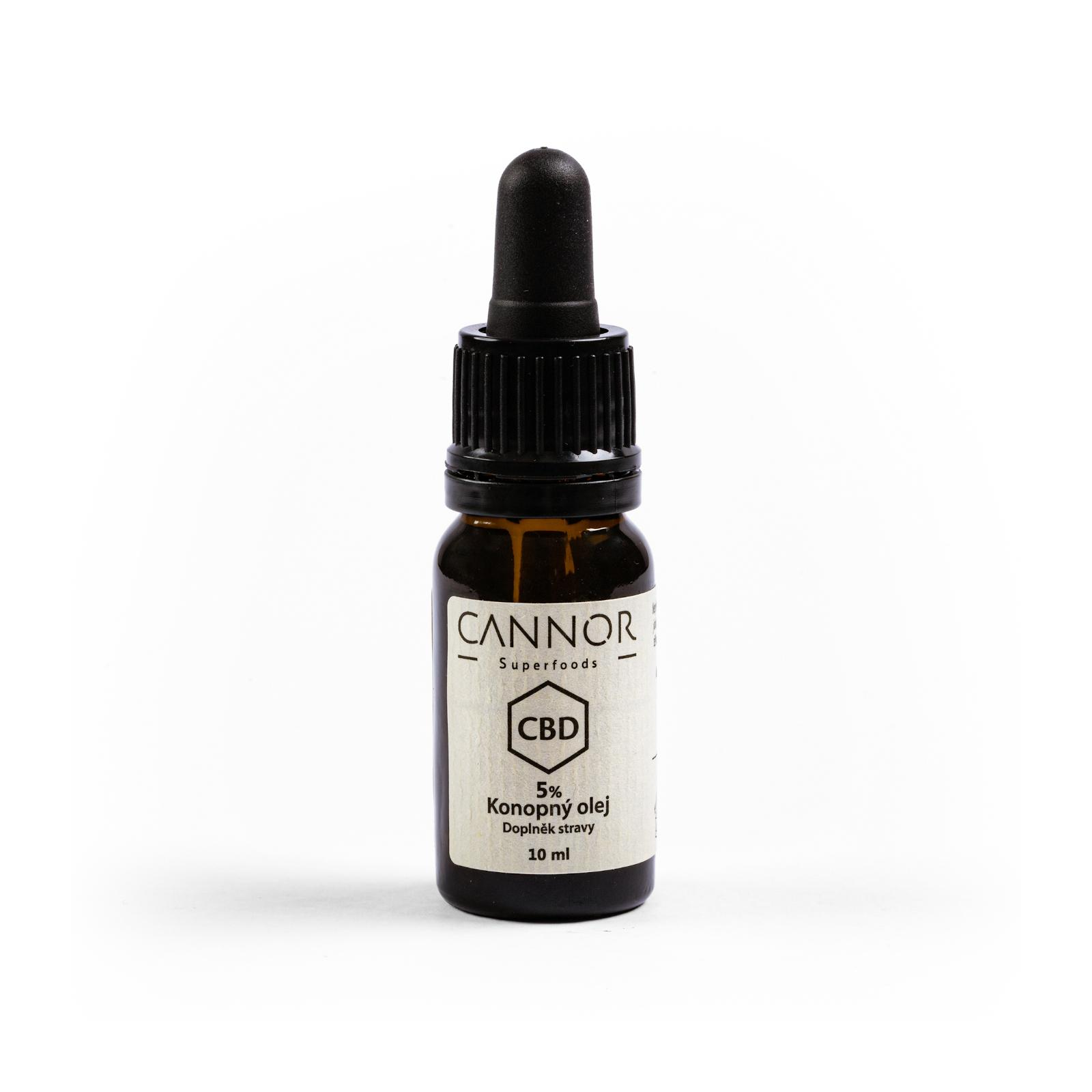 CANNOR CBD Konopný olej 5% 10 ml