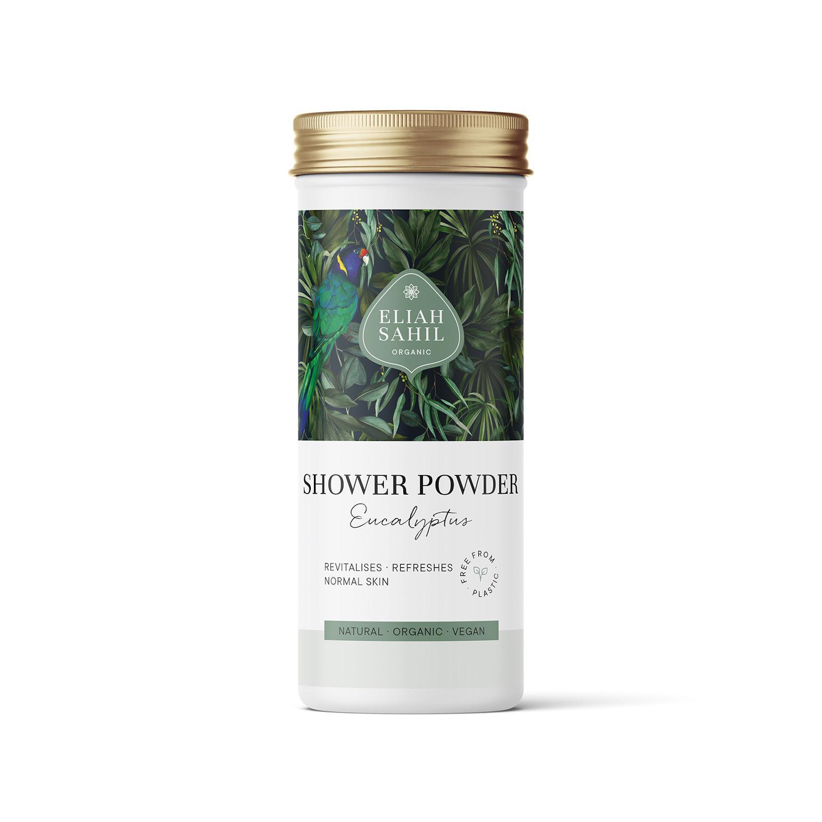 Eliah Sahil Organic Sprchový prášek eukalyptus 90 g, box