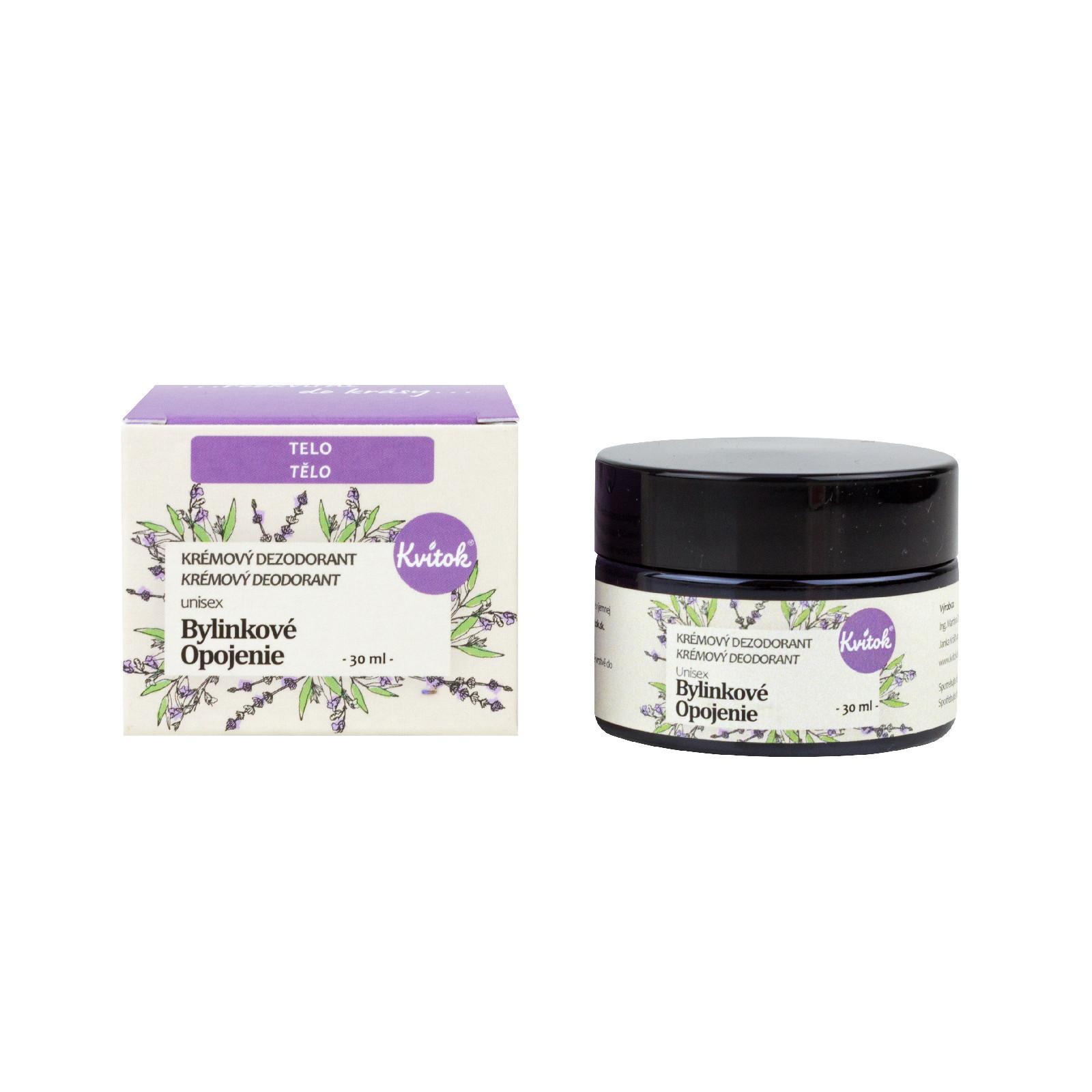 Kvitok Krémový deodorant, bylinkové opojení 30 ml