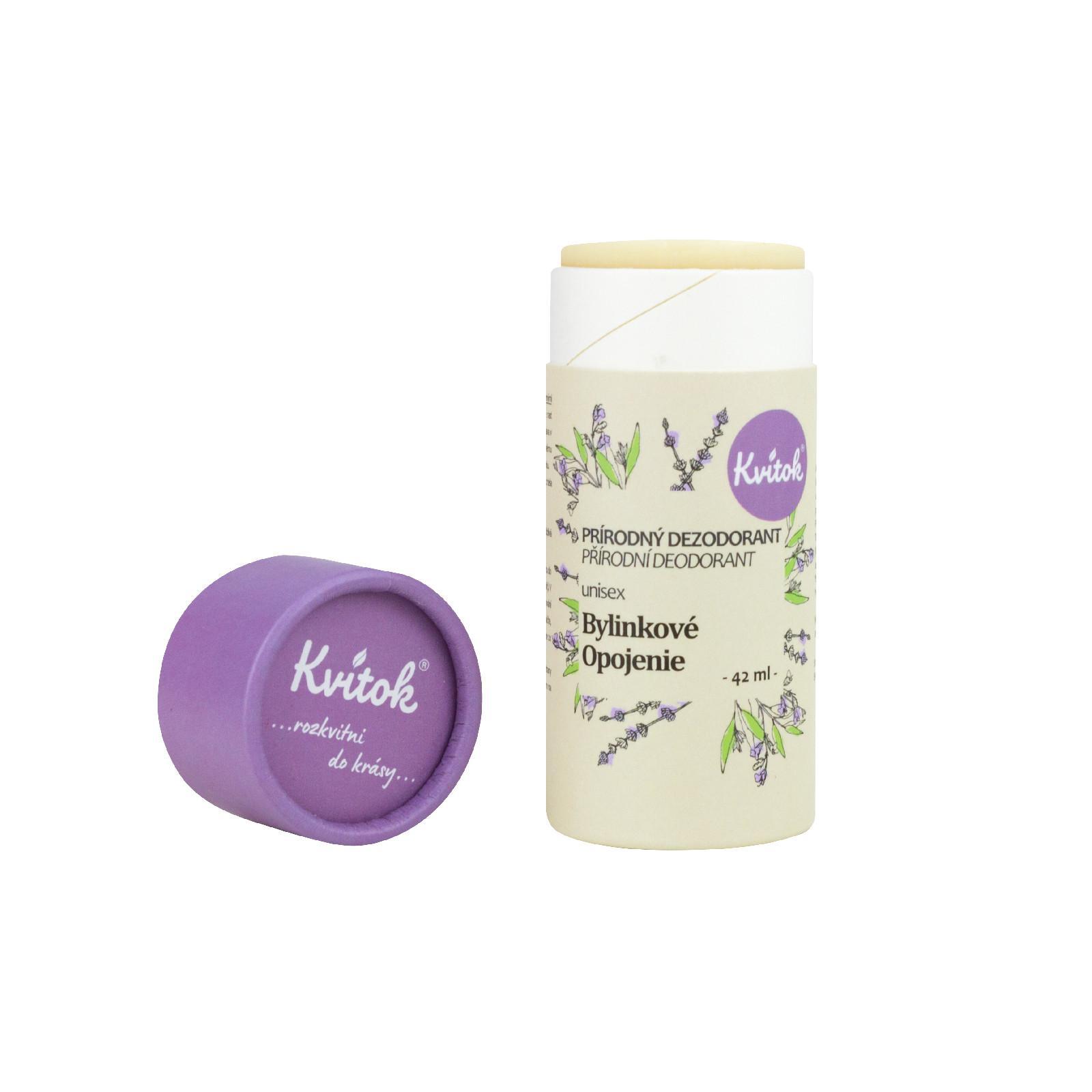 Kvitok Tuhý deodorant, bylinkové opojení 42 ml