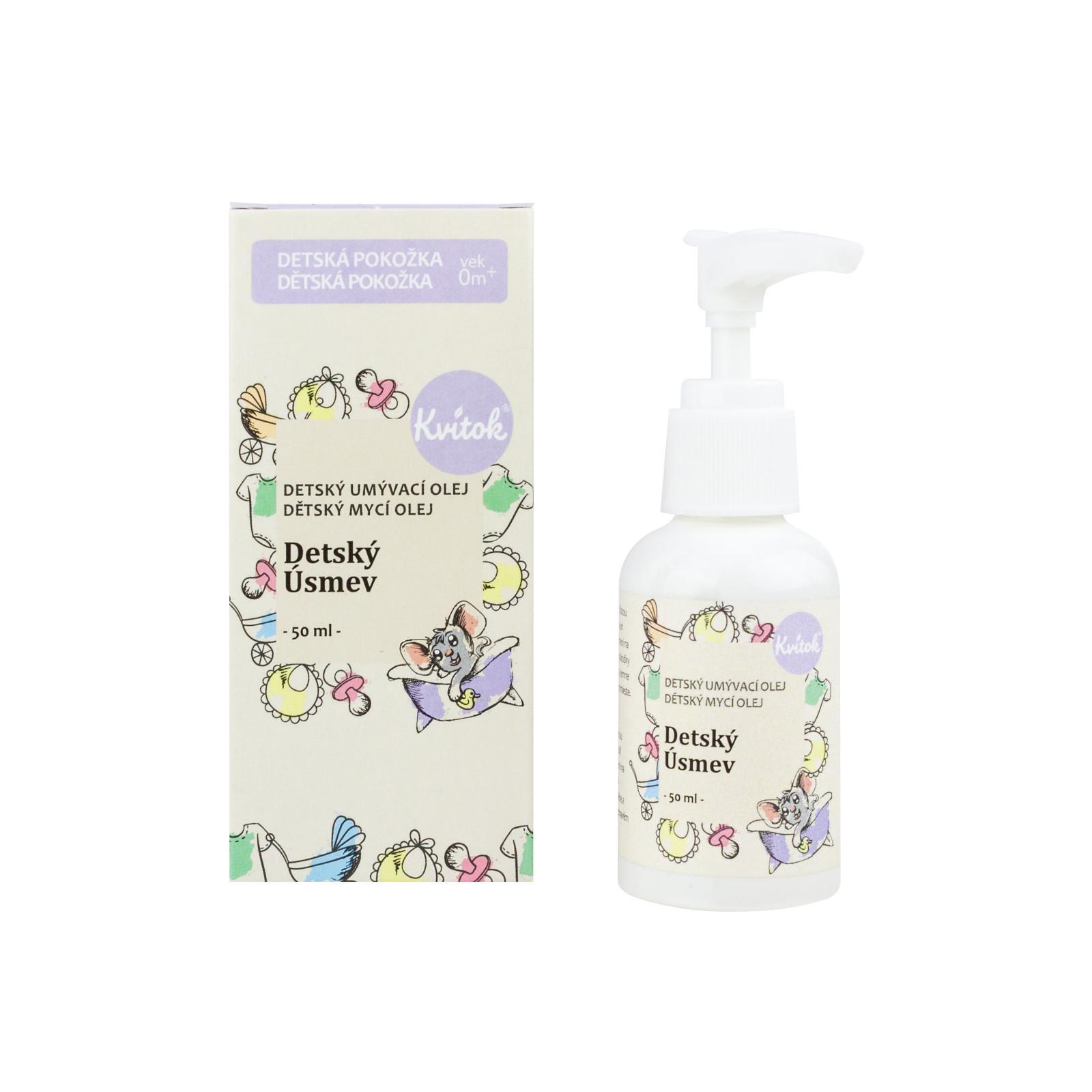 Kvitok Mycí olej dětský úsměv 50 ml