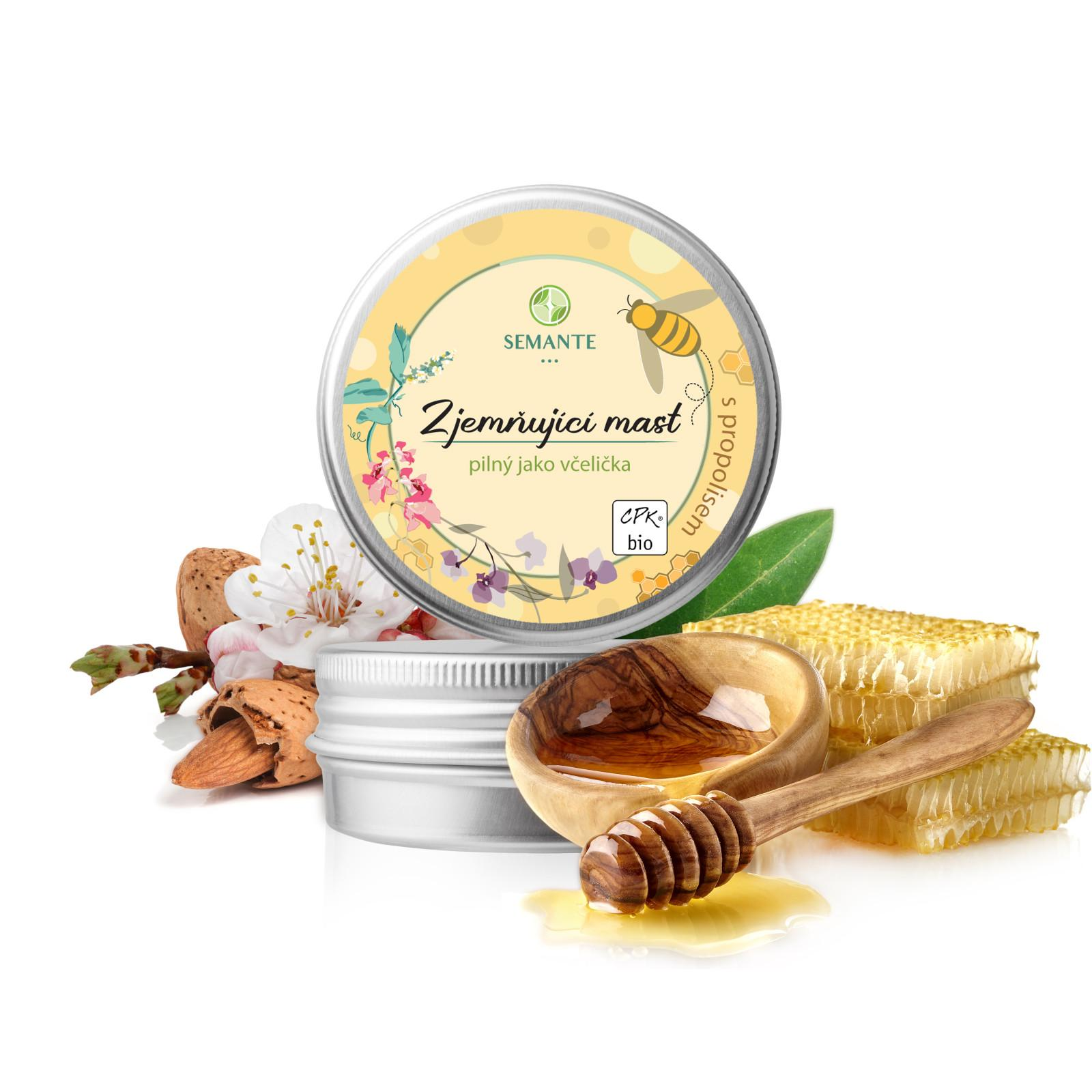 Semante by Naturalis Pilný jako včelička, zjemňující mast s propolisem 50 ml