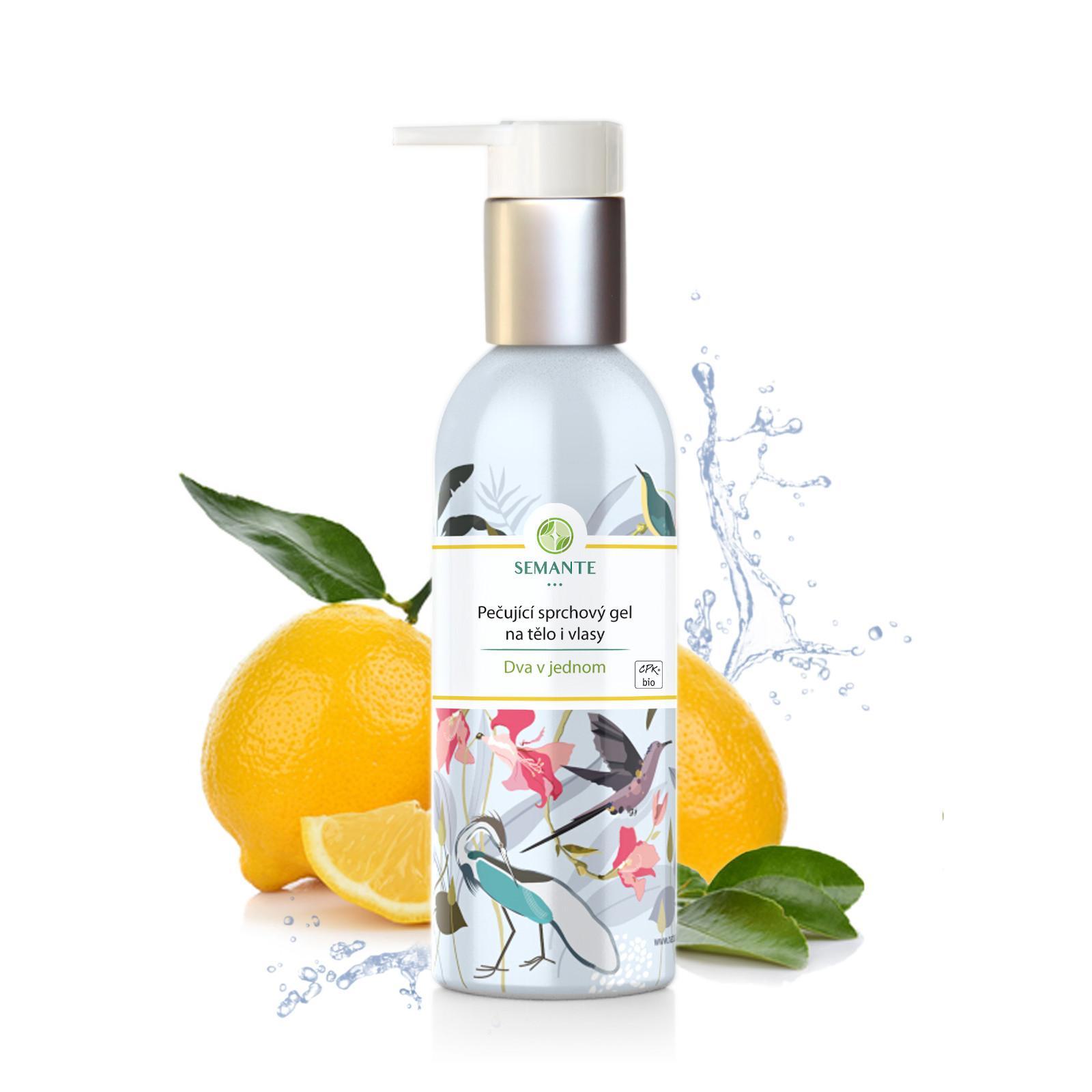 Semante by Naturalis Dva v jednom, pečující sprchový gel na tělo i vlasy 200 ml