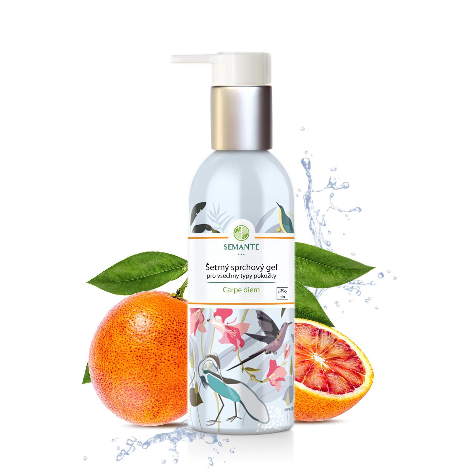 Semante by Naturalis Carpe diem, šetrný sprchový gel pro všechny typy pokožky 200 ml