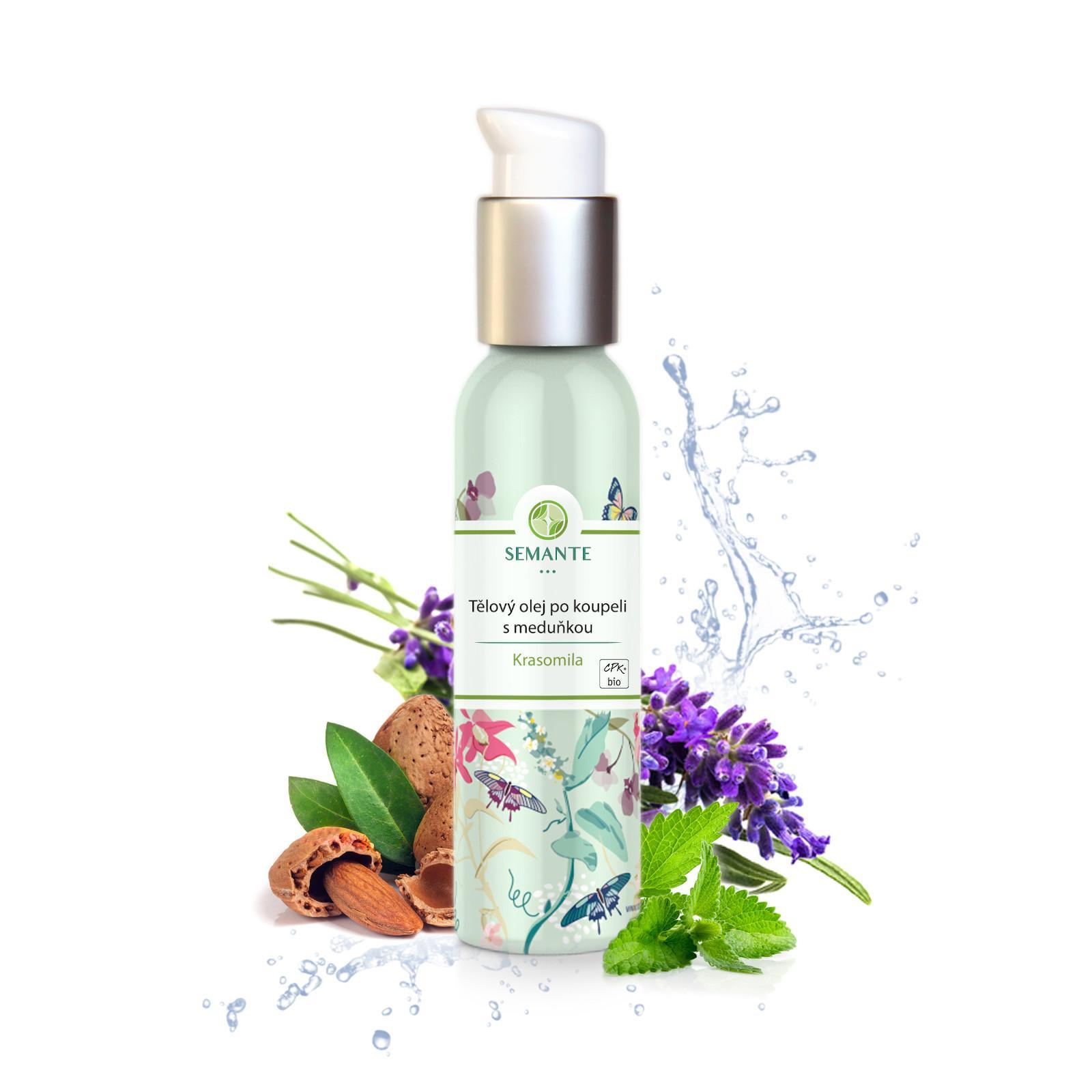 Semante by Naturalis Krasomila, tělový olej po koupeli s meduňkou 100 ml