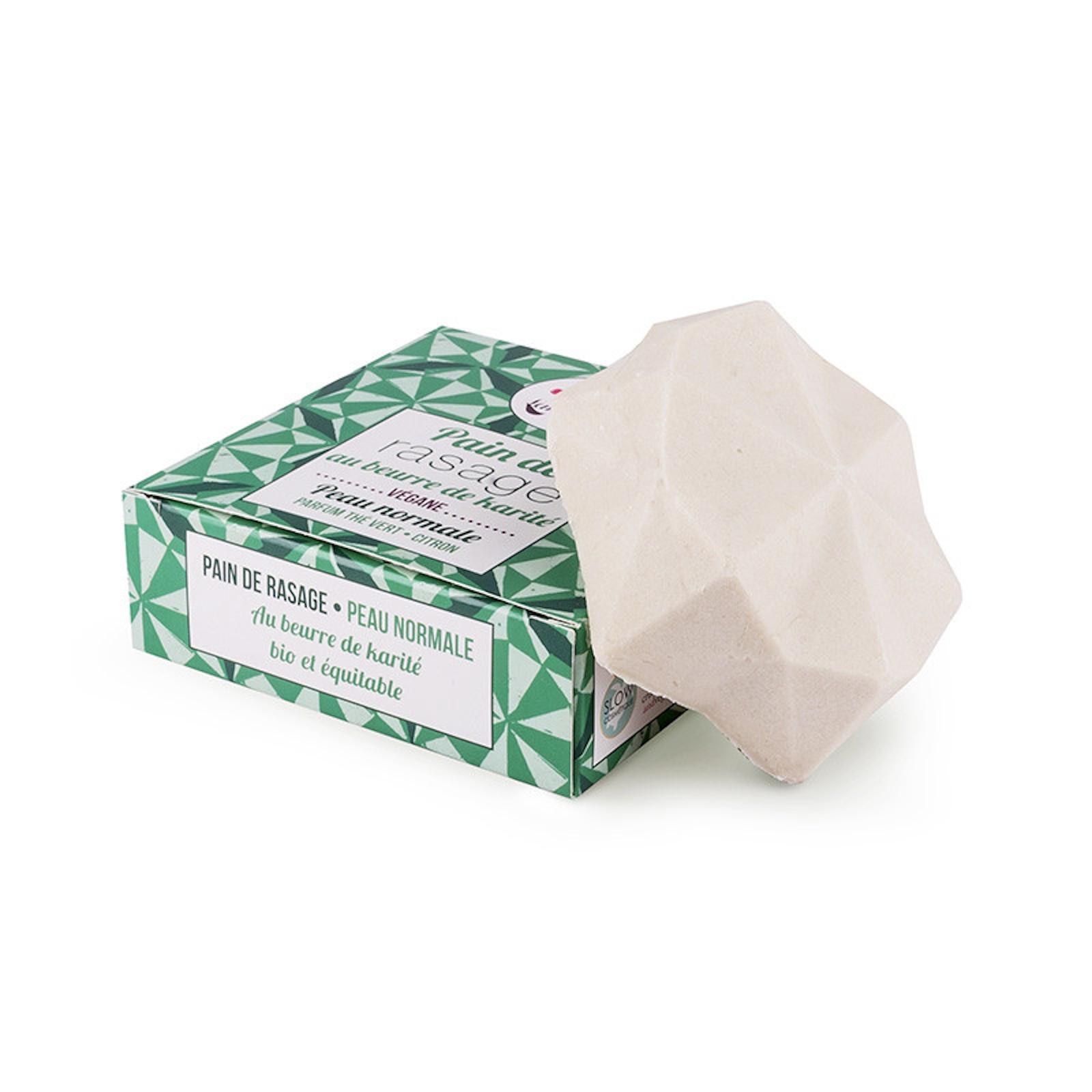 Lamazuna Tuhé mýdlo na holení pro normální pokožku zelený čaj a citrón 55 g