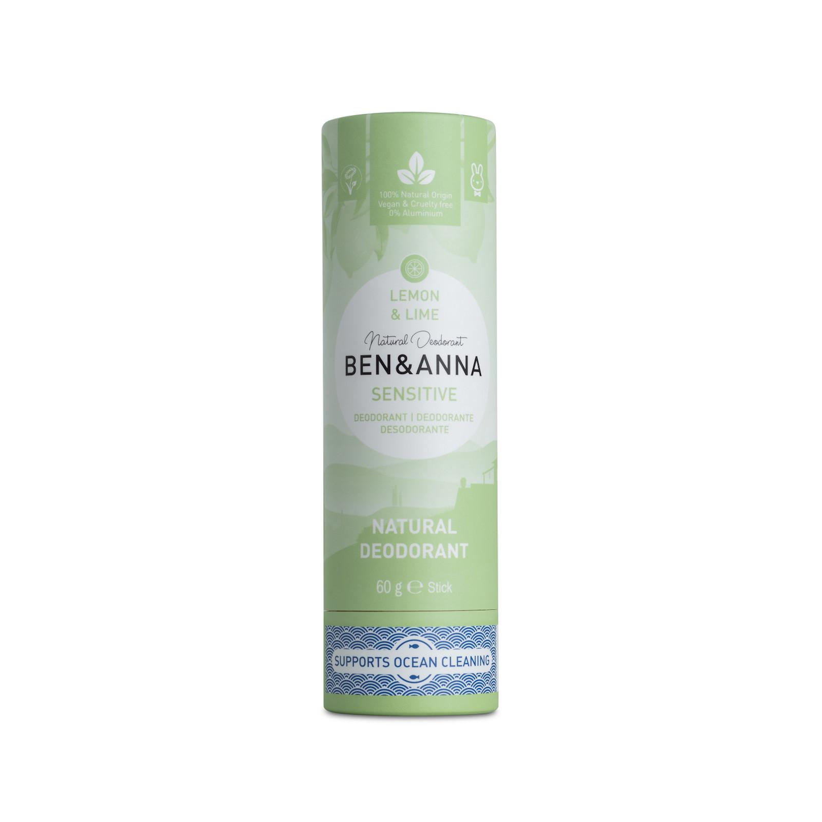 Ben & Anna Tuhý deodorant sensitive 60 g, citron a limetka
