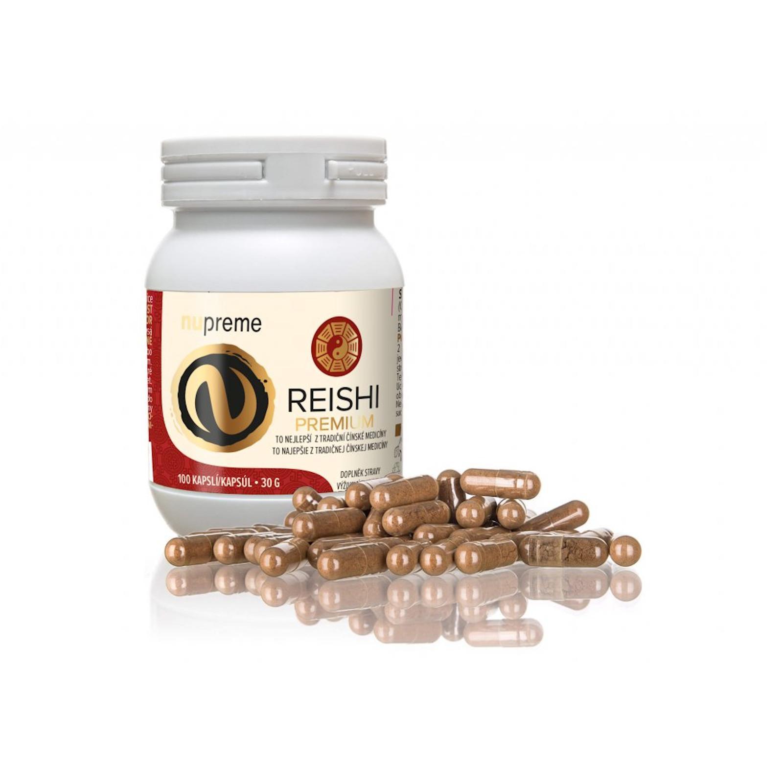 Nupreme Reishi premium extrakt, kapsle 100 ks, 30 g