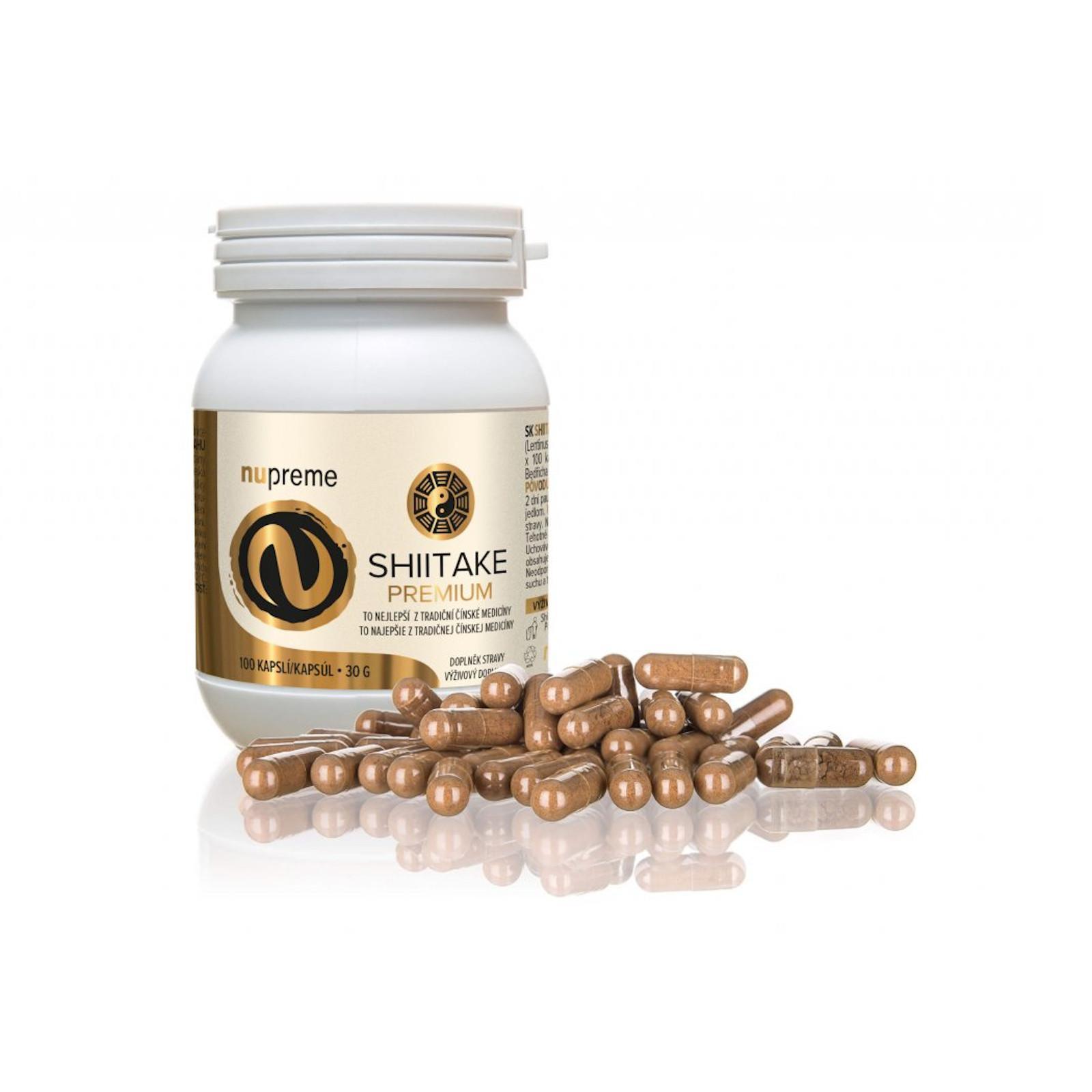 Nupreme Shiitake premium extrakt, kapsle 100 ks, 30 g