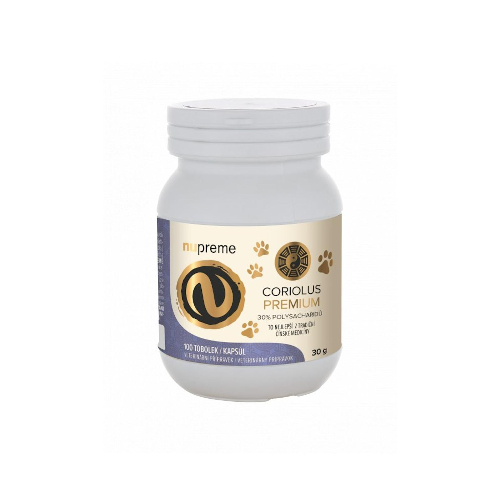 Nupreme Coriolus Versicolor premium extrakt, kapsle 100 ks, 30 g