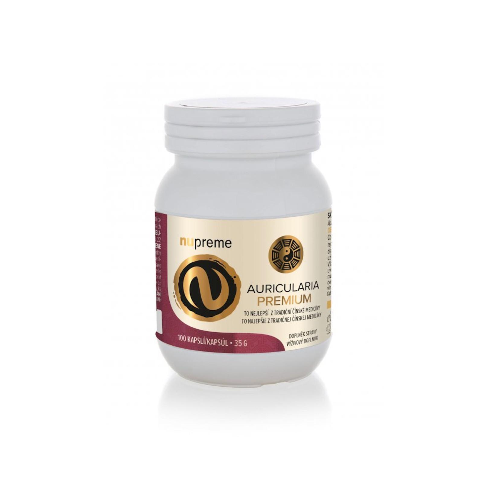 Nupreme Auricularia premium extrakt, kapsle 100 ks, 35 g