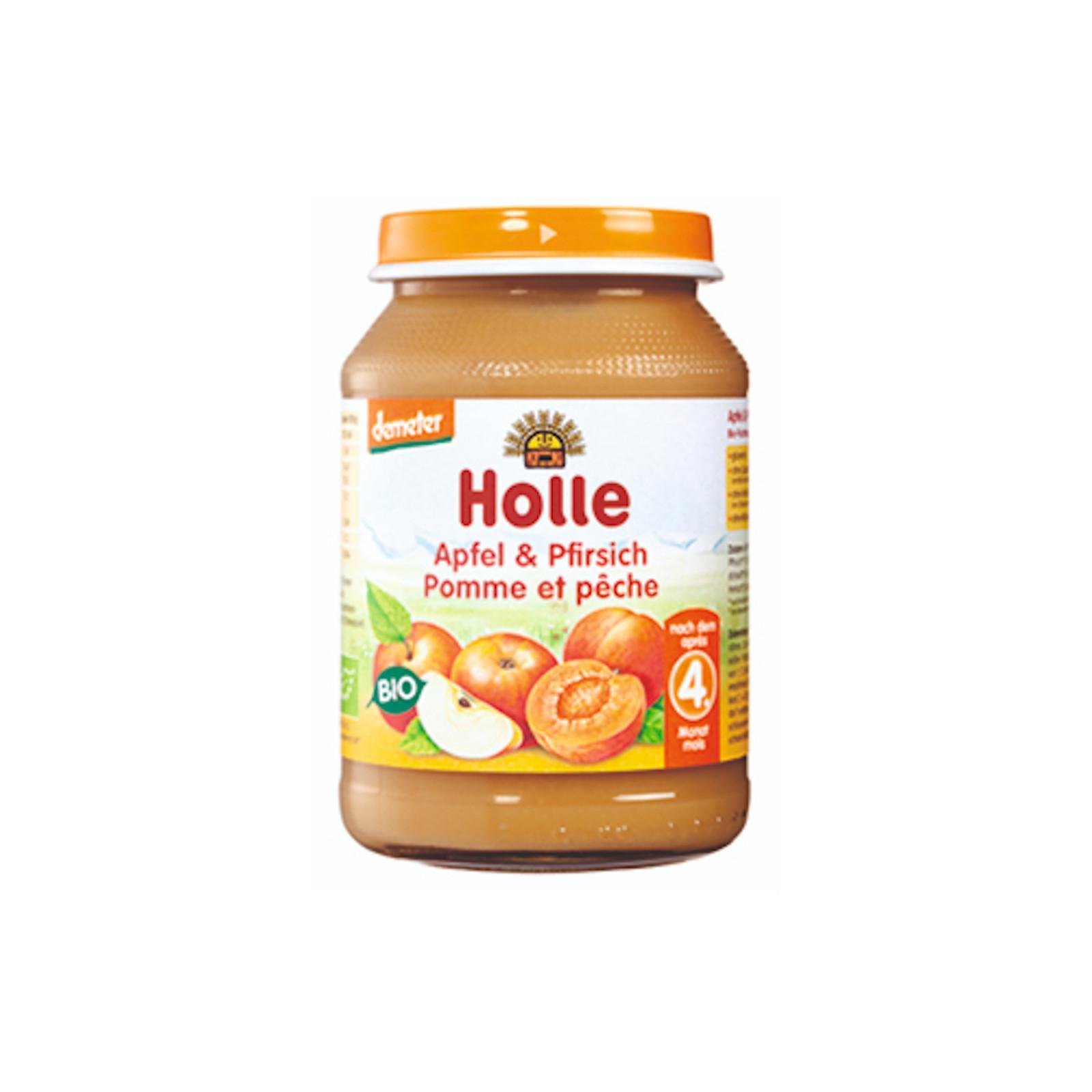 Holle Bio Dětská přesnídávka broskev a jablko 190 g