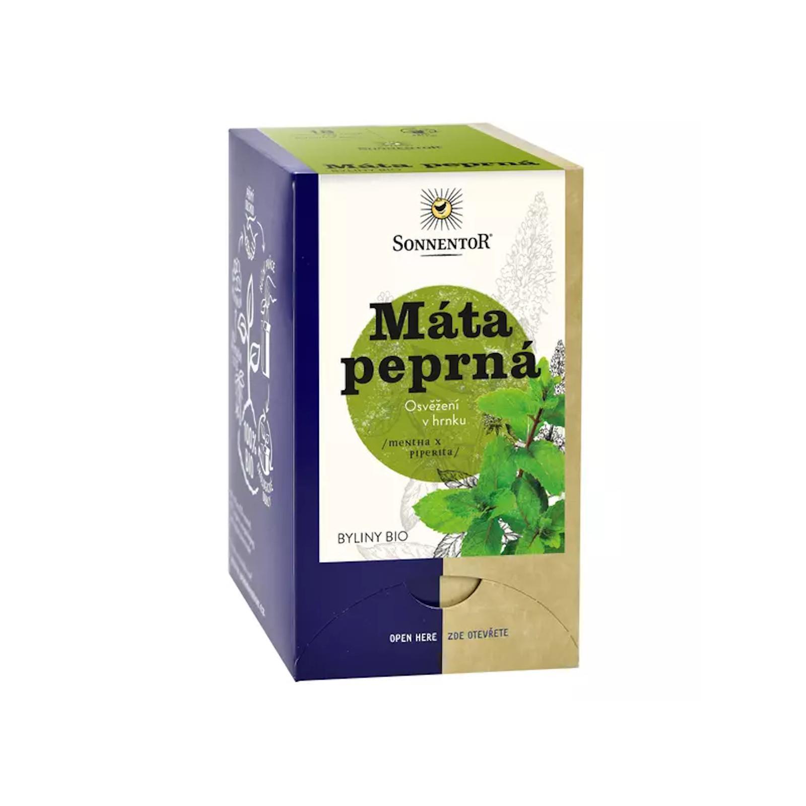 Sonnentor Mátový čaj bio 18 g, 18 sáčků