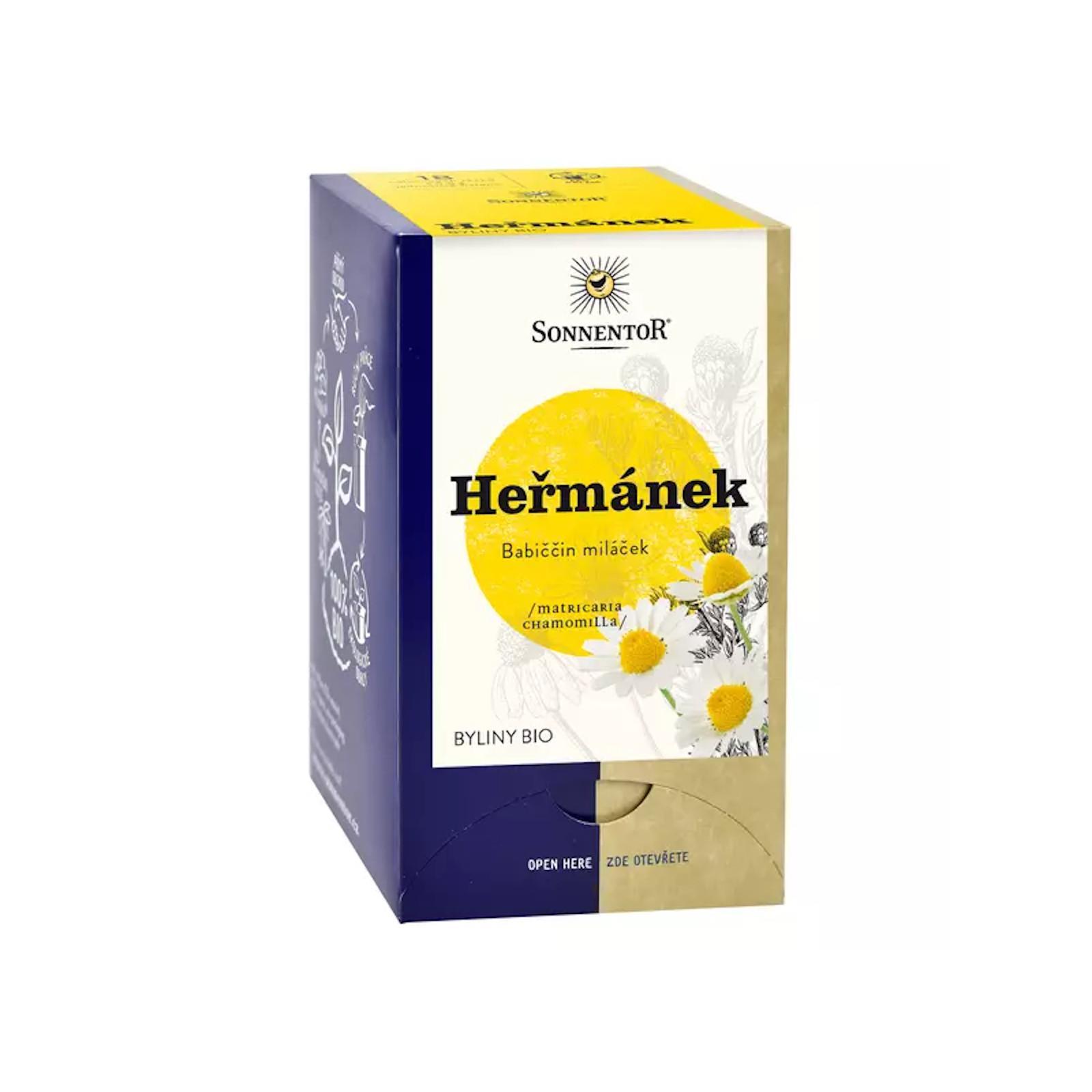 Sonnentor Heřmánkový čaj bio 14,4 g, 18 sáčků