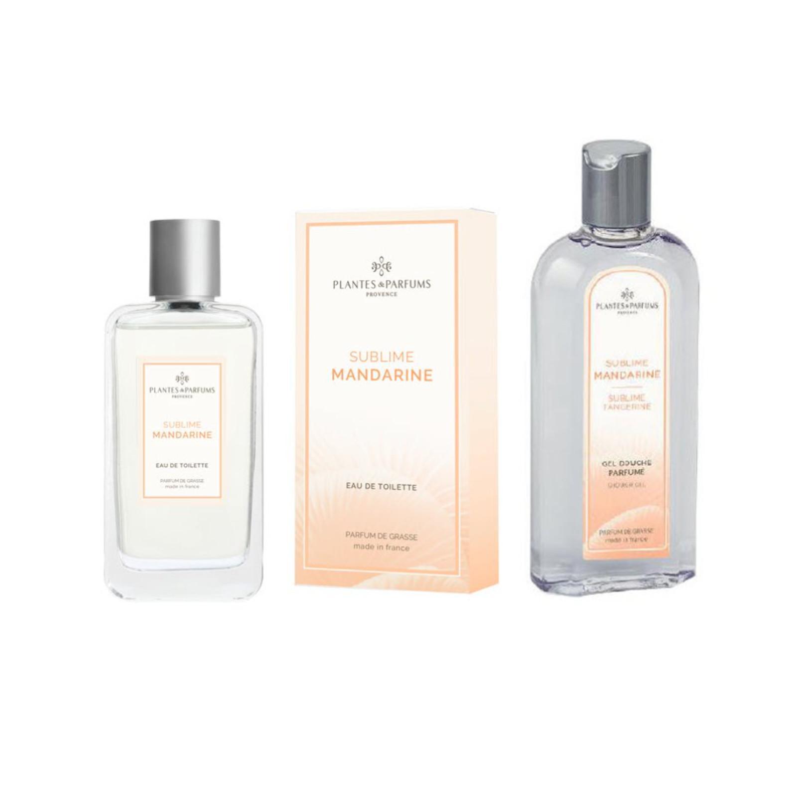 Plantes et Parfums Dámská Toaletní Voda a Sprchový Gel Sublime Mandarine 100 ml + 250 ml