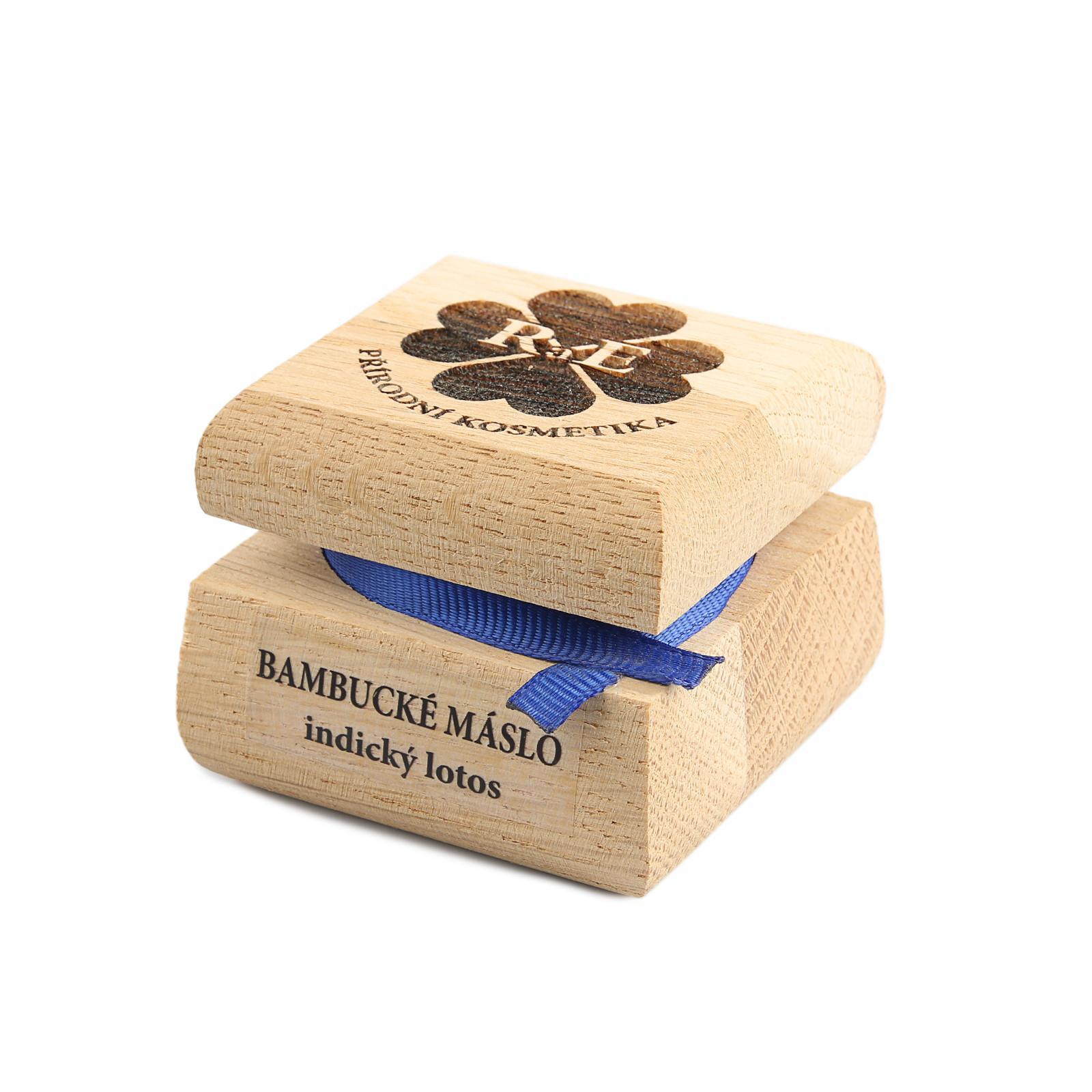 RaE Bambucké máslo indický lotos 30 ml, dřevěný obal