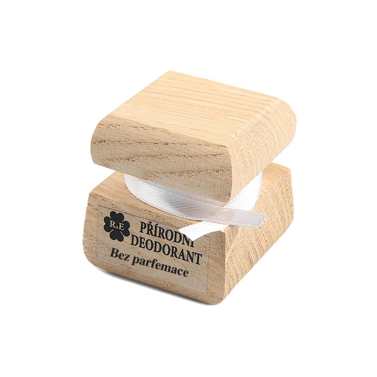 RaE Přírodní deodorant bez parfemace 15 ml, dřevěná krabička