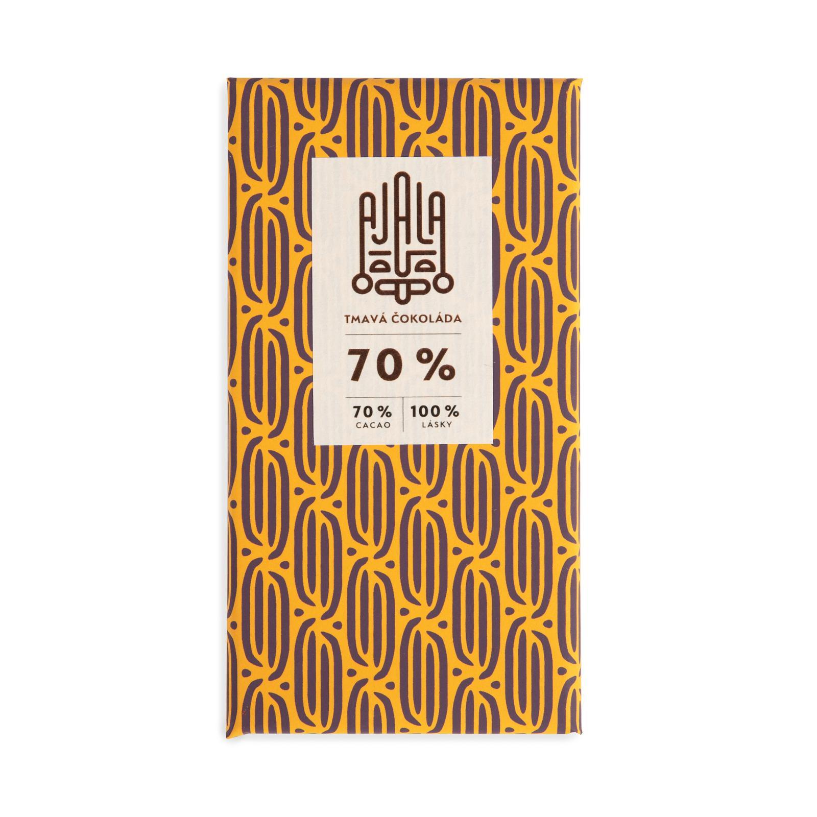 AJALA CHOCOLATE Tmavá čokoláda 70%, BIO 45 g