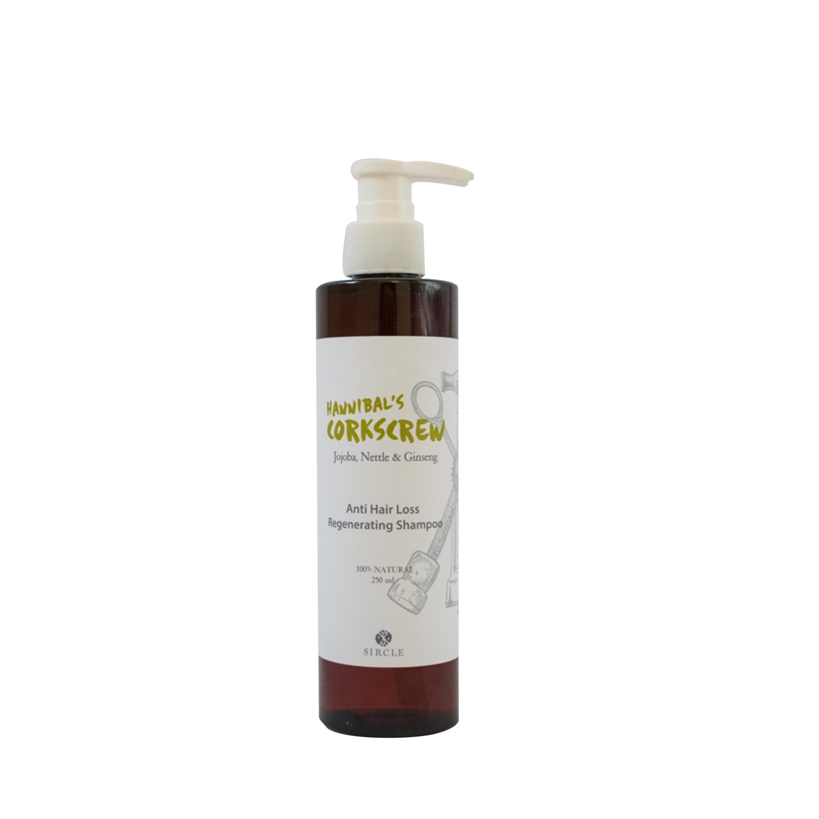 Sircle Hannibals Corkscrew, šampón proti padání vlasů unisex 250 ml