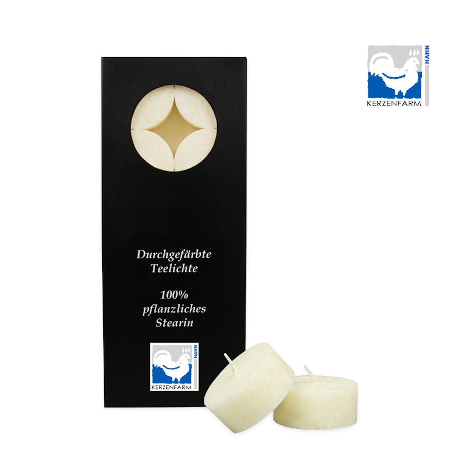 Kerzenfarm Čajové svíčky, Ivory 10 ks