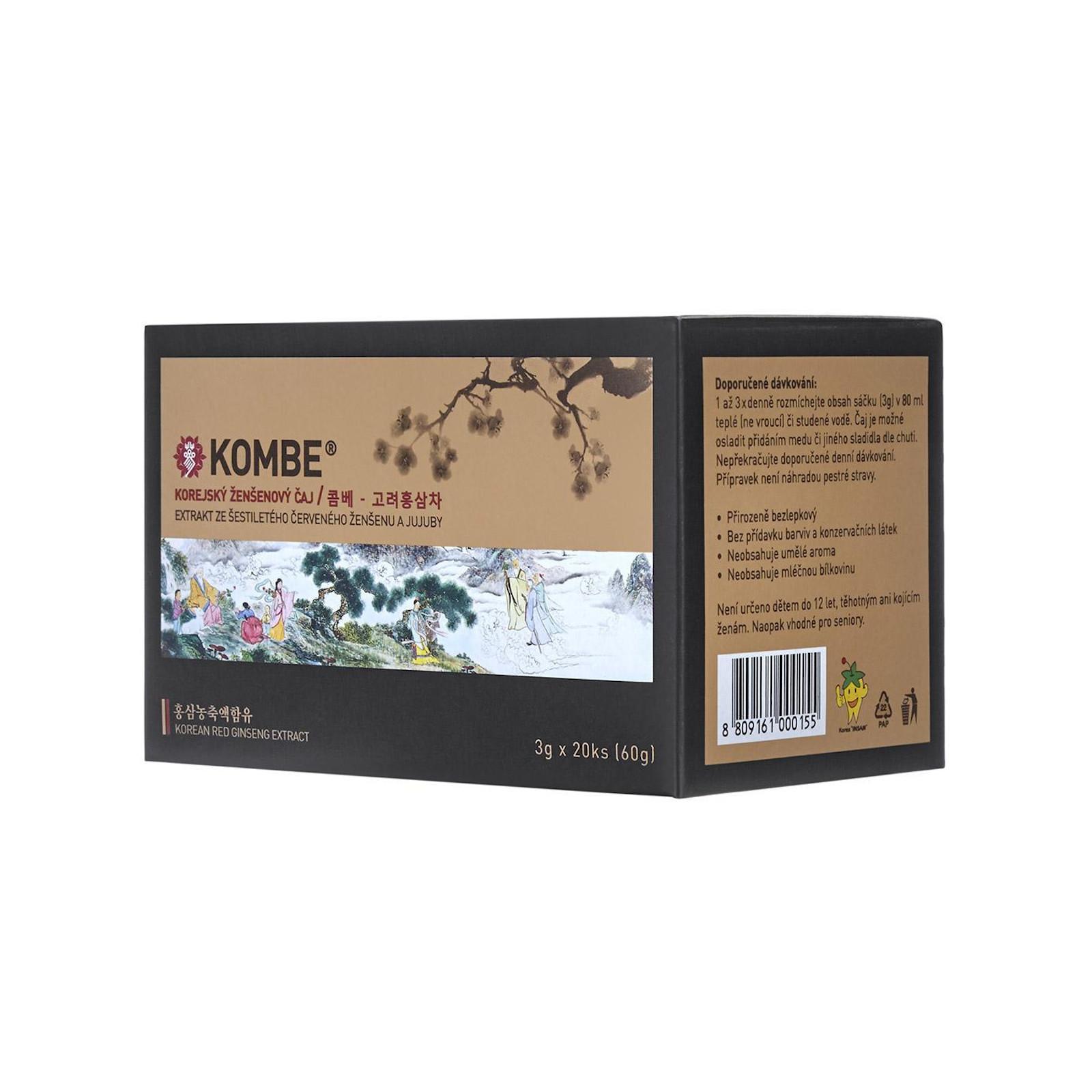 KOMBE Ženšenový čaj 3 g, 20 ks