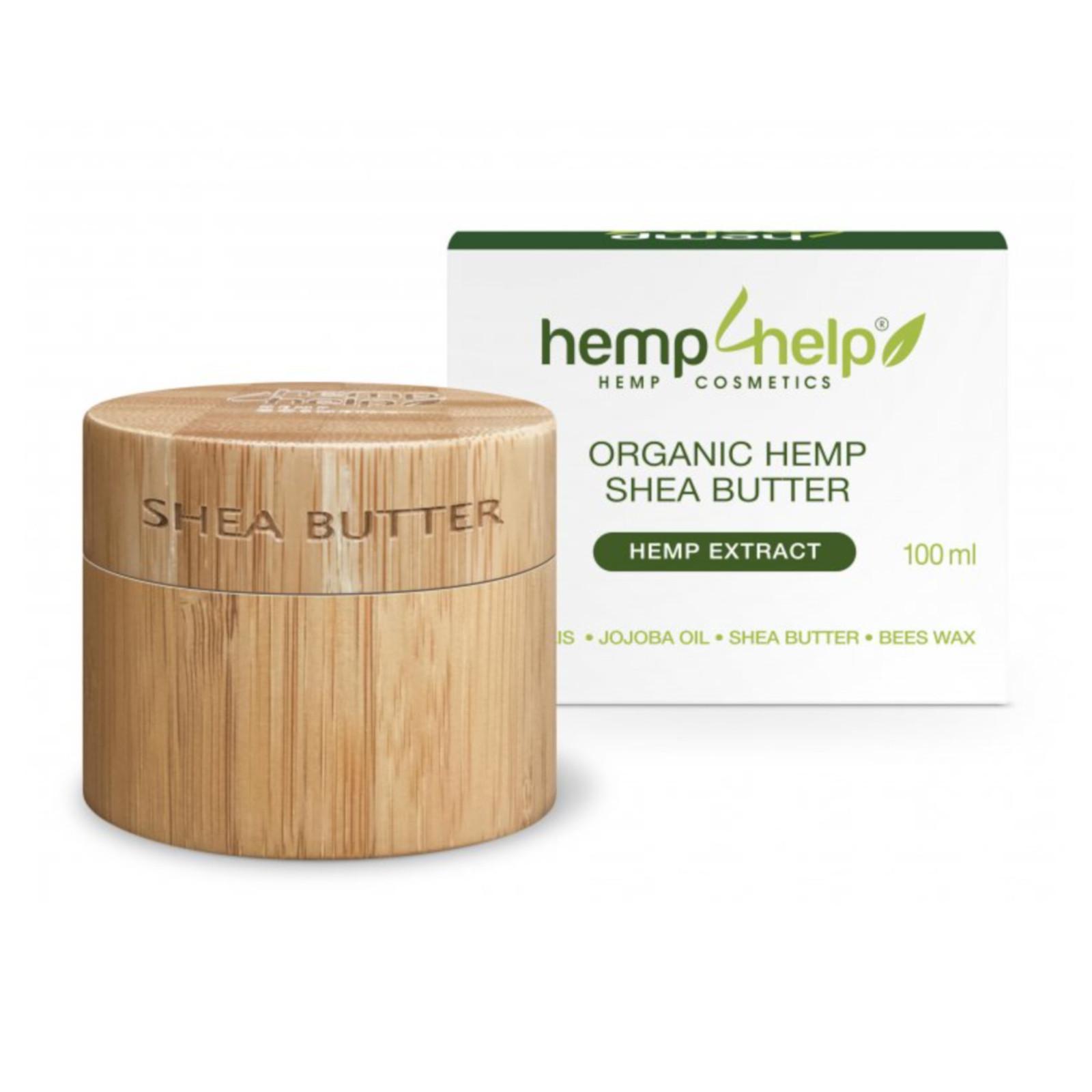 Hemp For Help Bio bambucké máslo s konopným extraktem 100 ml