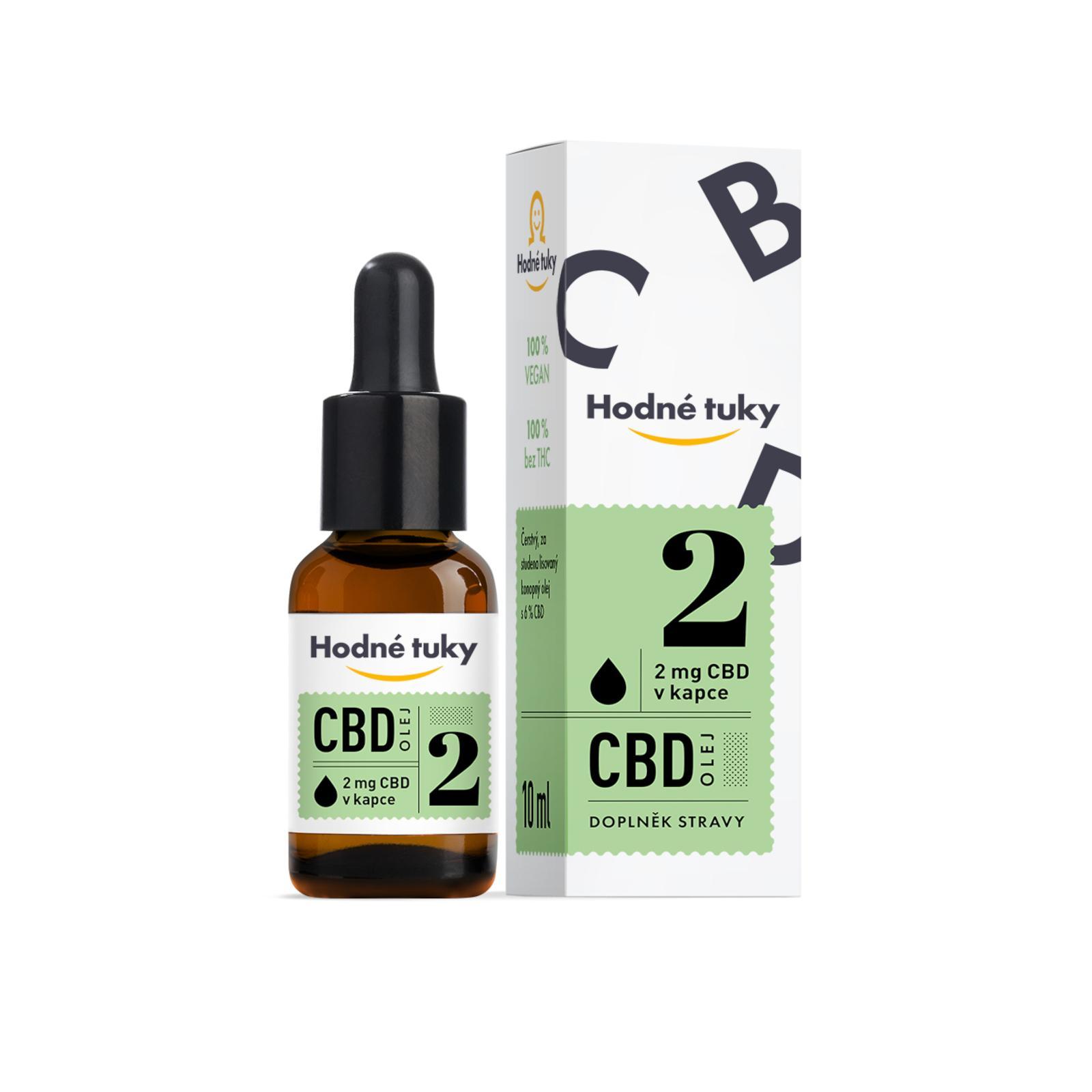 Hodné tuky CBD olej 6% 10 ml